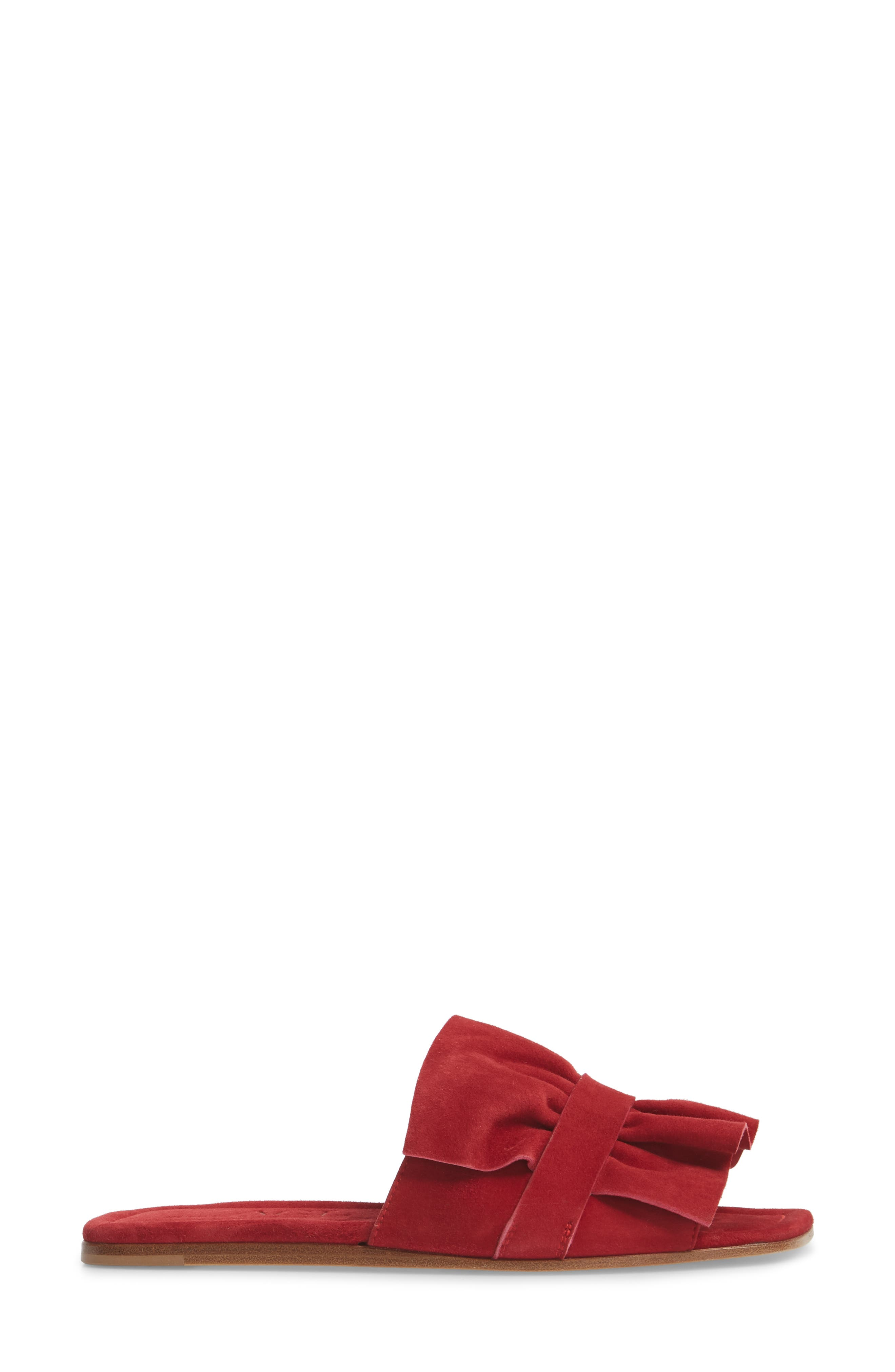 Ruched Slide Sandal,                             Alternate thumbnail 9, color,