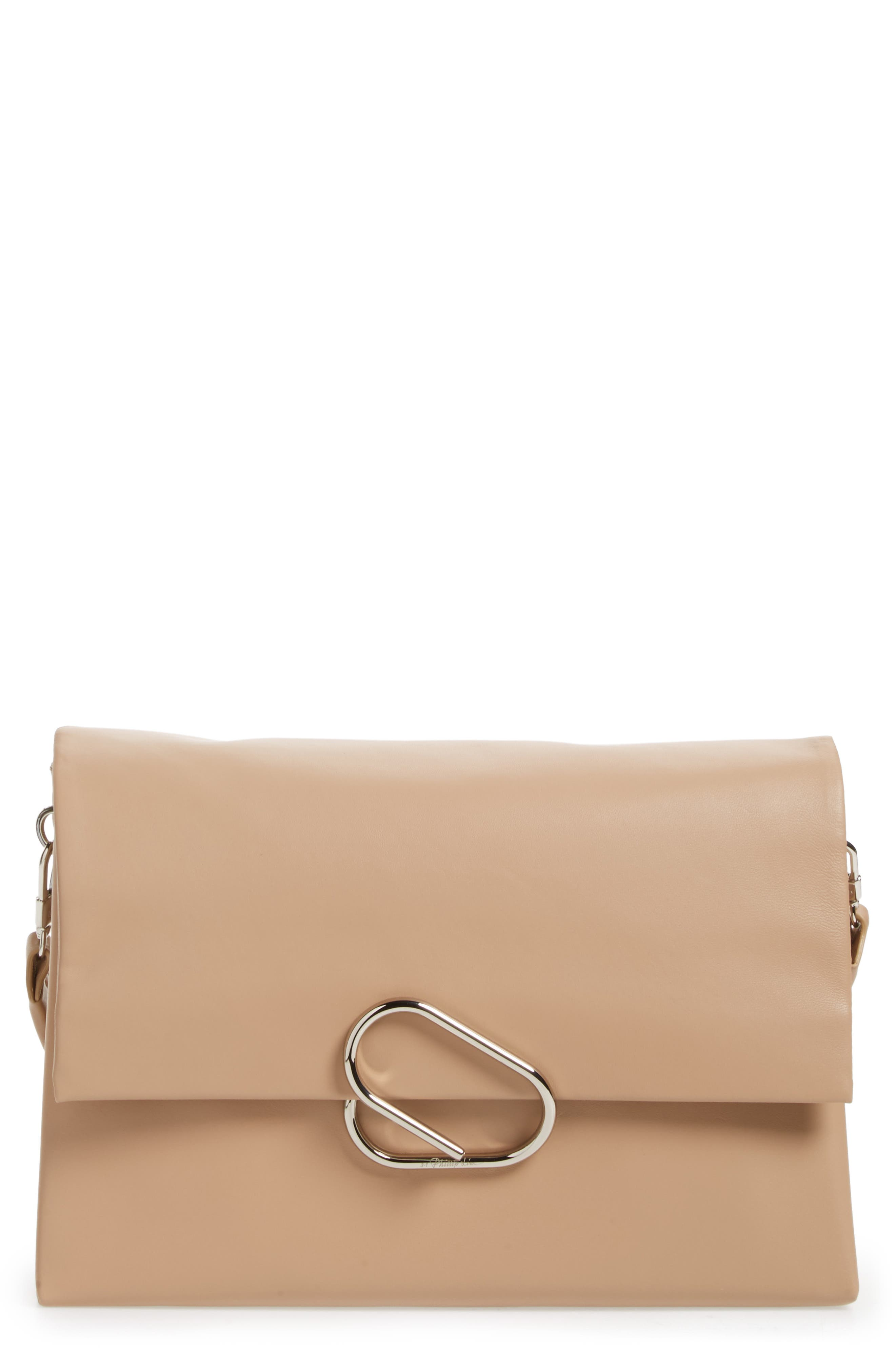 Oversized Alix Flap Leather Shoulder Bag,                             Main thumbnail 1, color,                             260