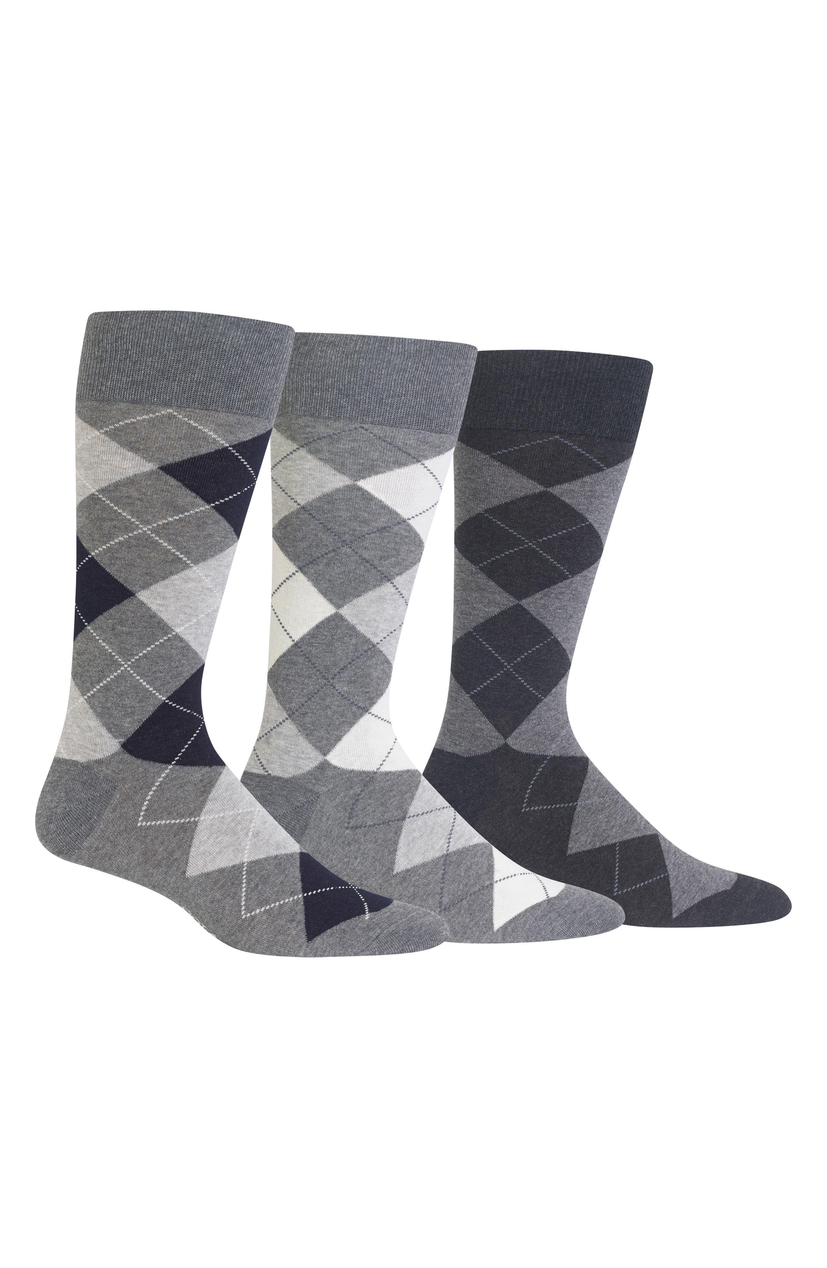 3-Pack Argyle Socks,                             Main thumbnail 1, color,                             023