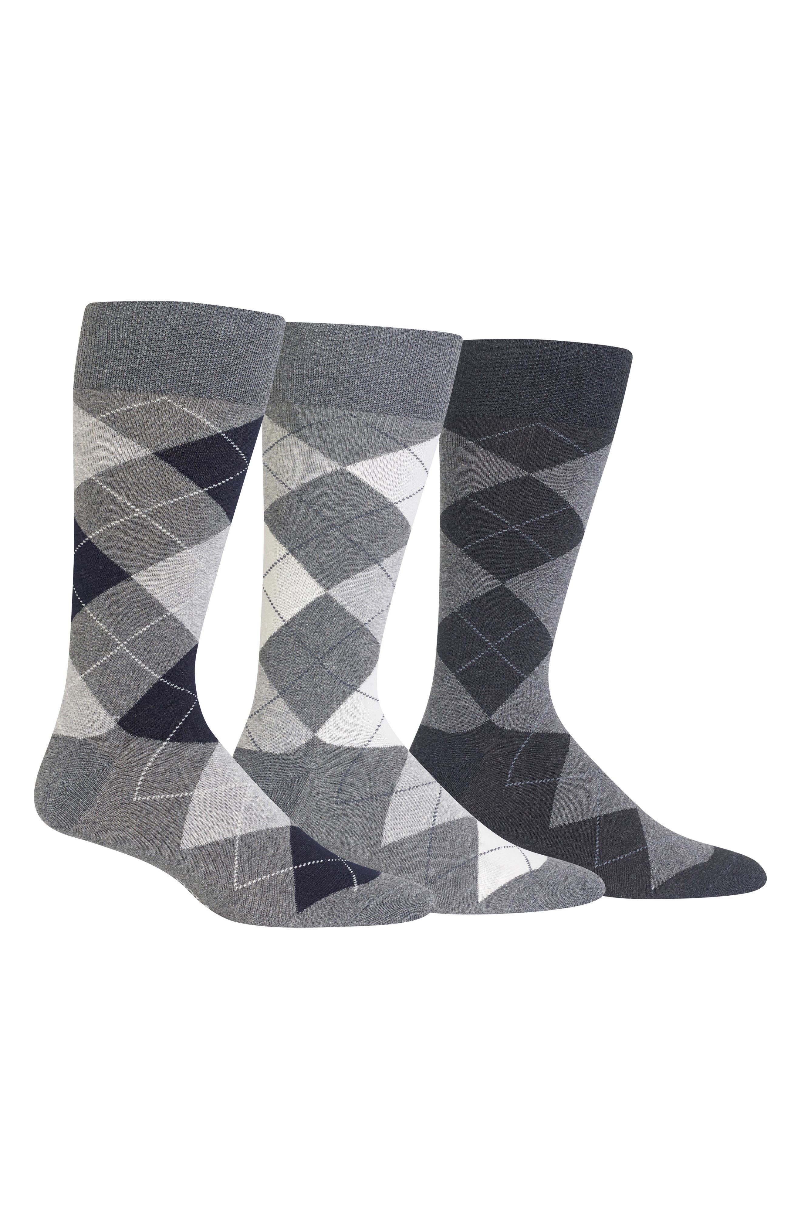3-Pack Argyle Socks,                         Main,                         color, 023