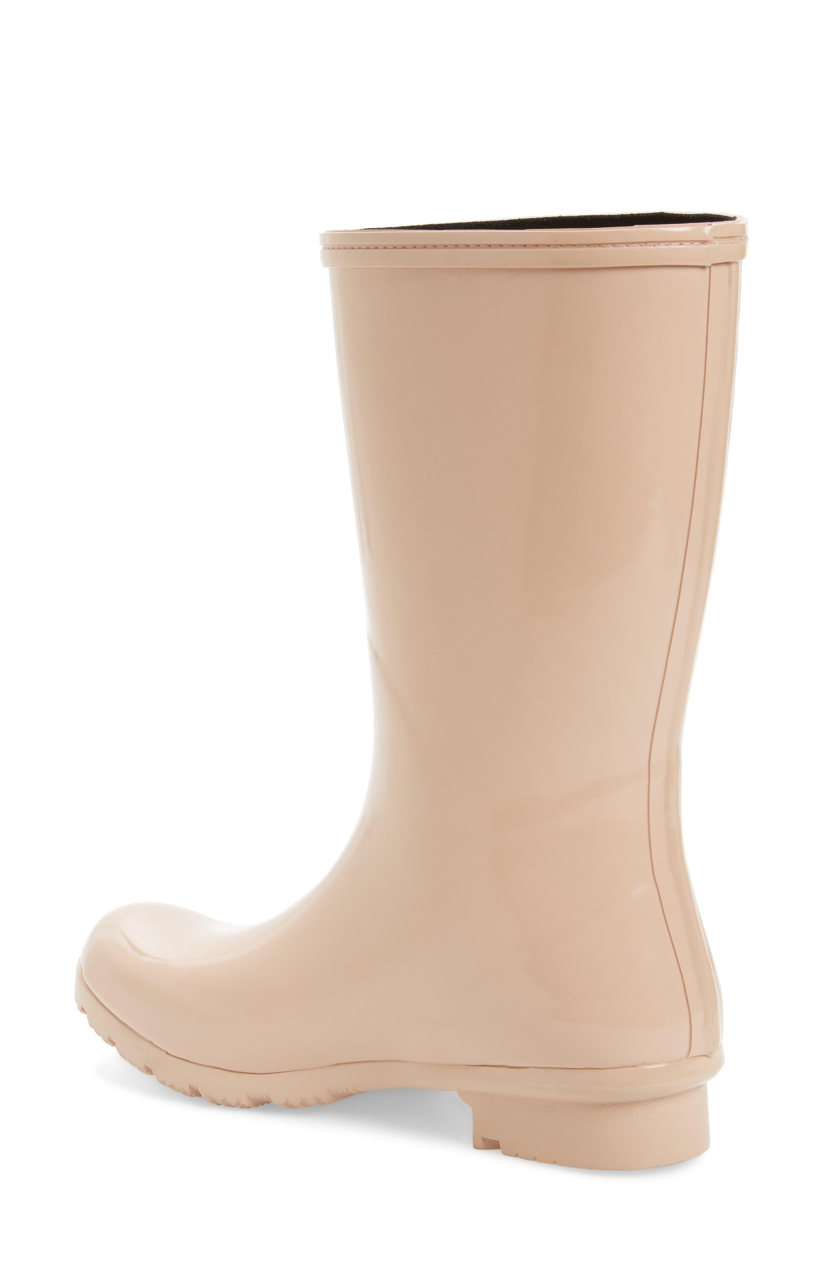 'Emma - Short' Glossy Rain Boot,                             Alternate thumbnail 4, color,