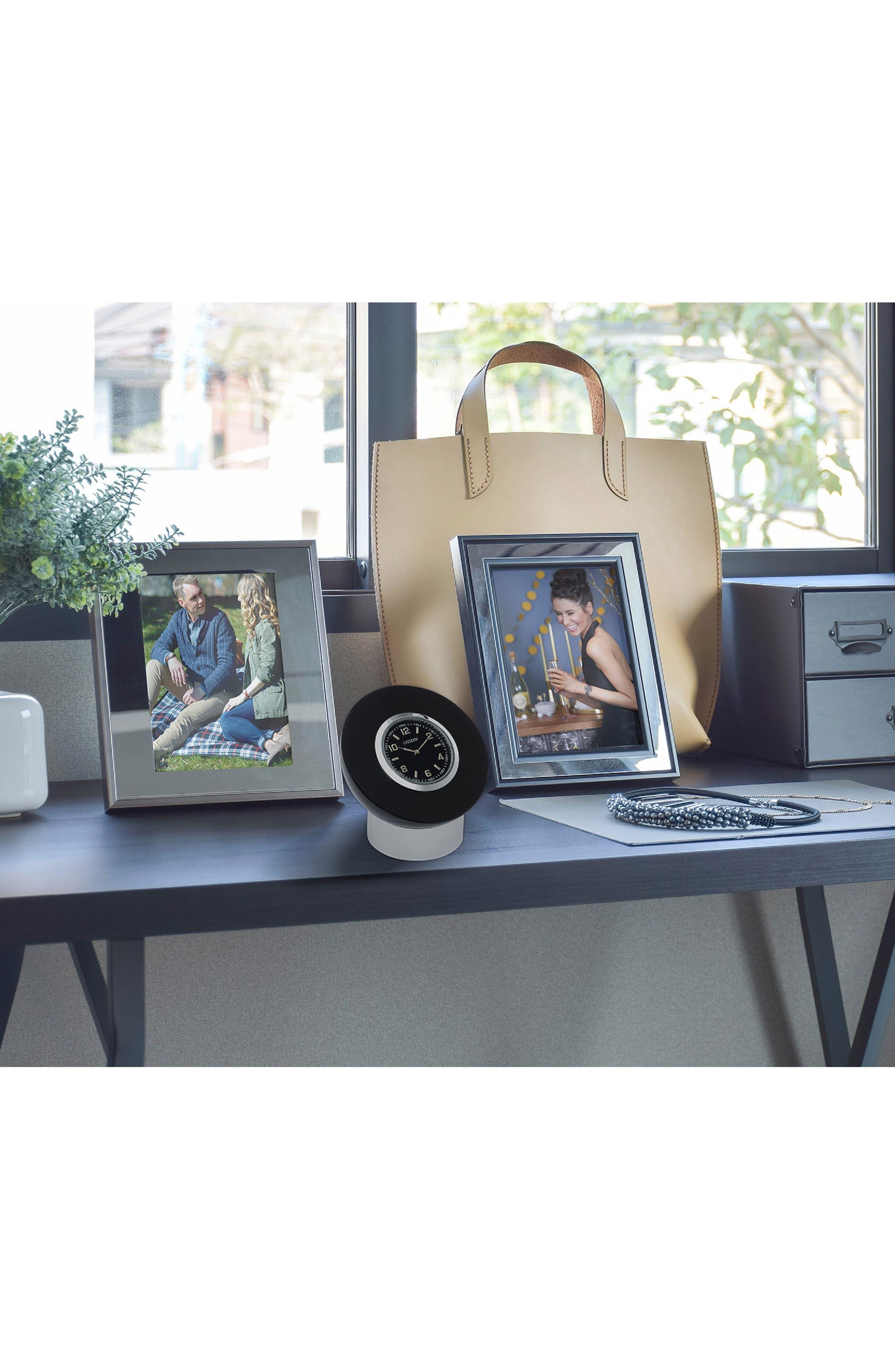 Decorative Accent Desk Clock,                             Alternate thumbnail 2, color,                             BLACK