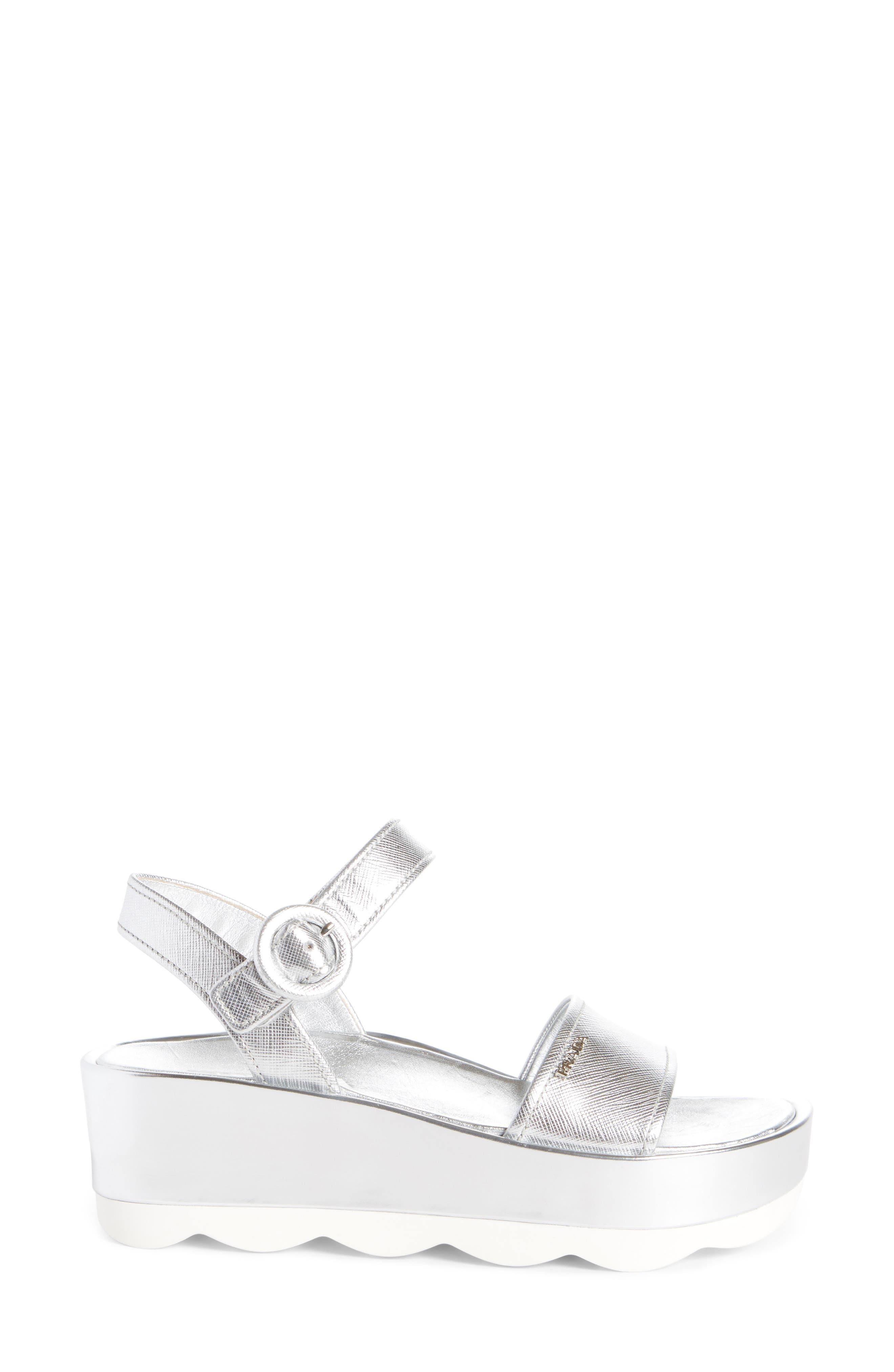 Ankle Strap Platform Sandal,                             Alternate thumbnail 3, color,                             040