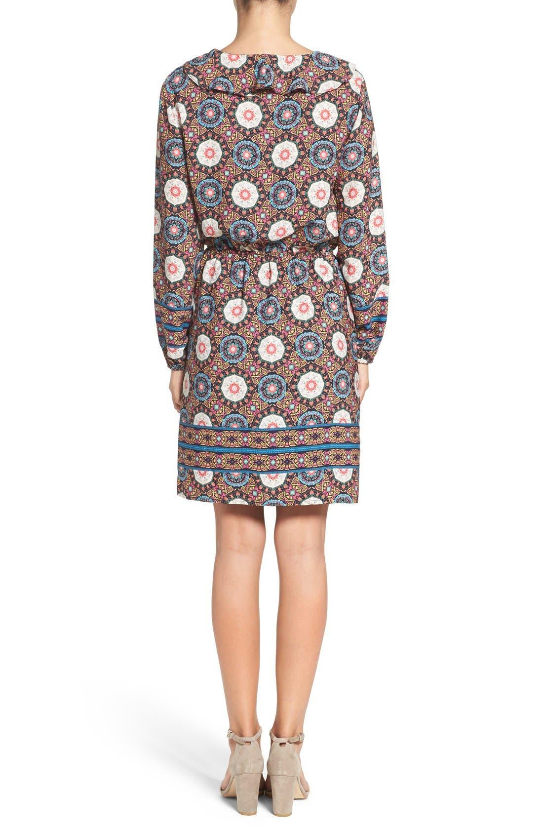 'Nadia' Ruffle Blouson Dress,                             Alternate thumbnail 3, color,                             409
