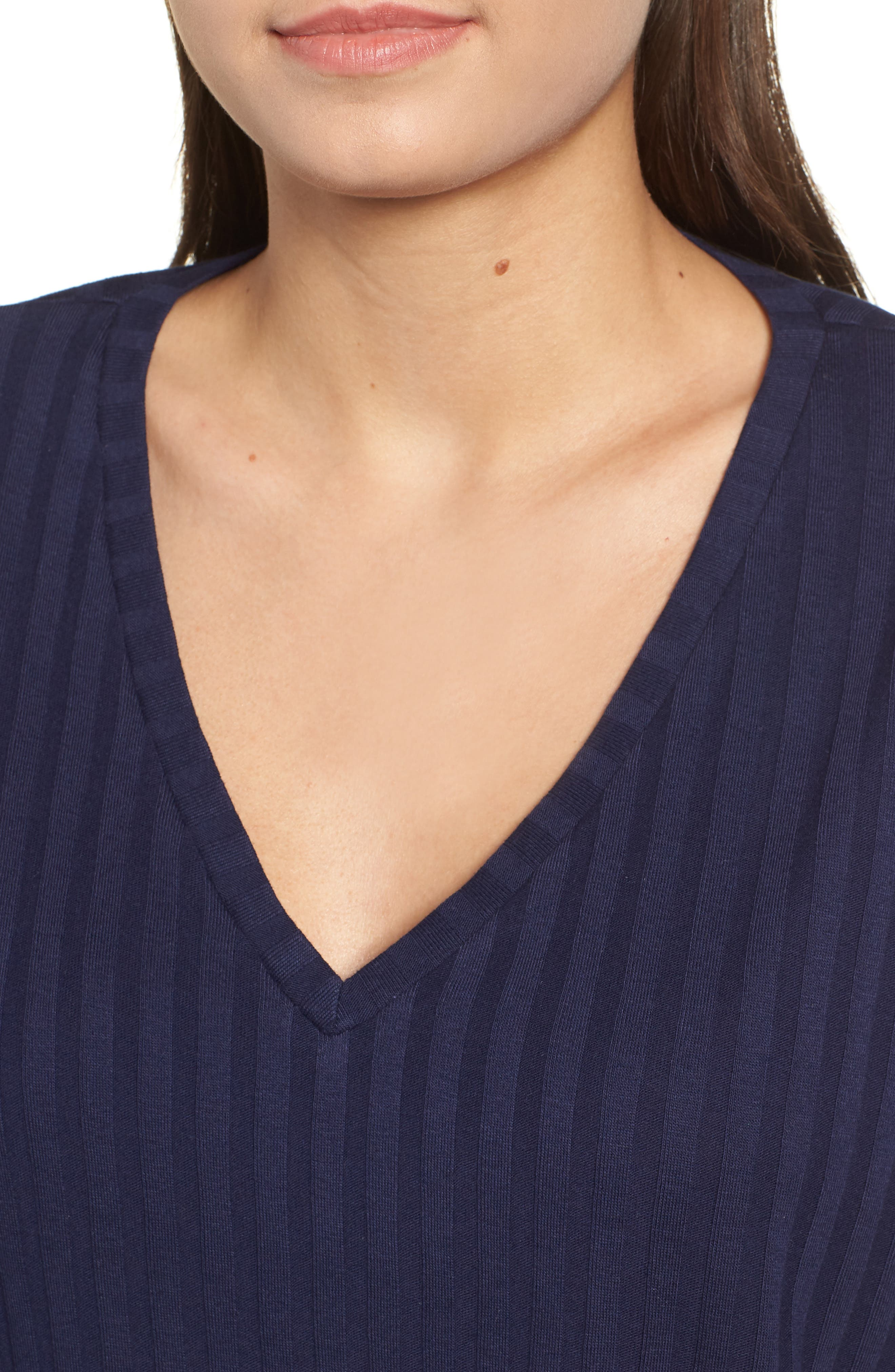 Wide Rib Crop Sweater,                             Alternate thumbnail 4, color,                             NAVY MARITIME