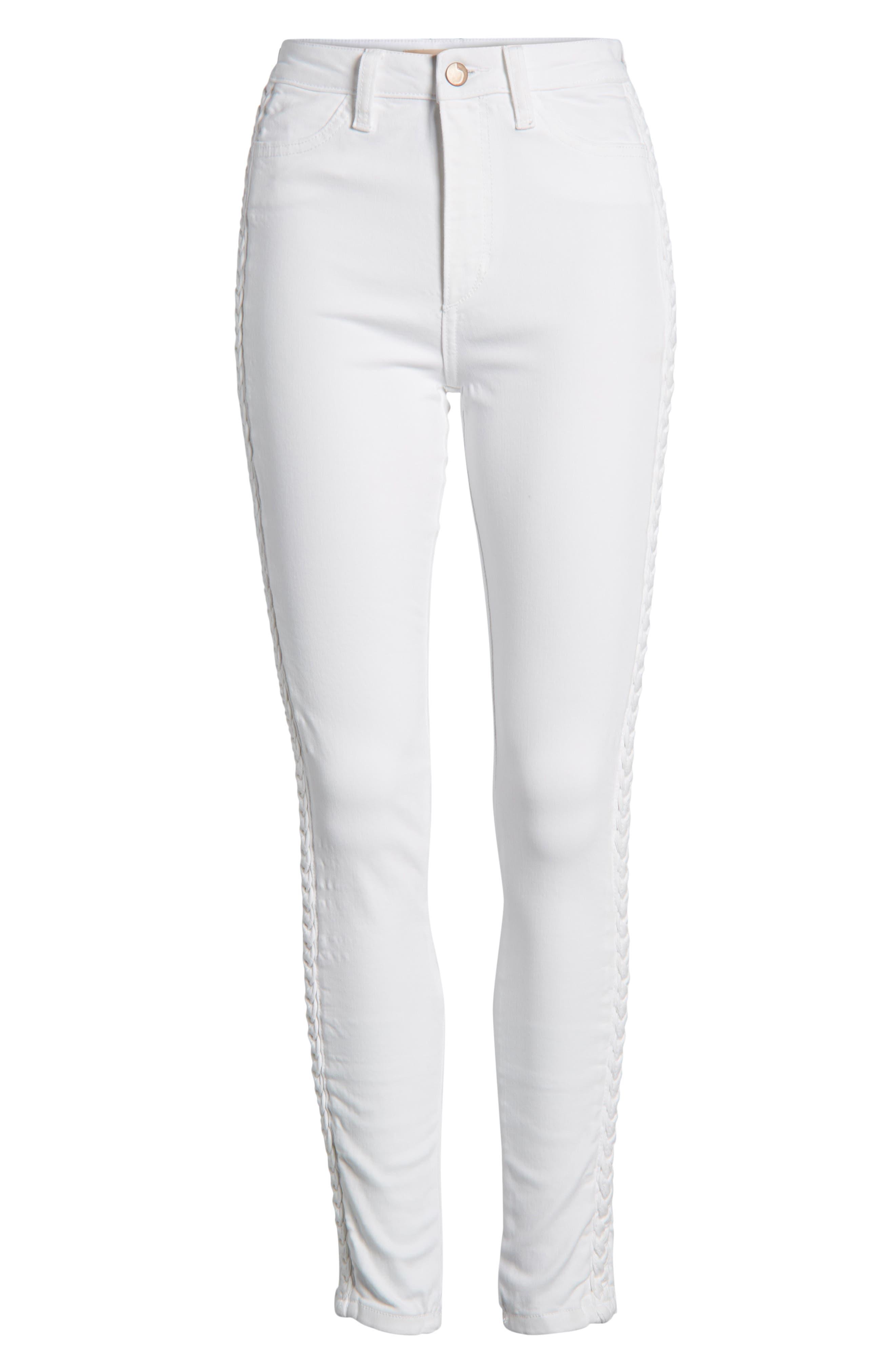 Charlie High Waist Skinny Jeans,                             Alternate thumbnail 7, color,                             PORSCHA