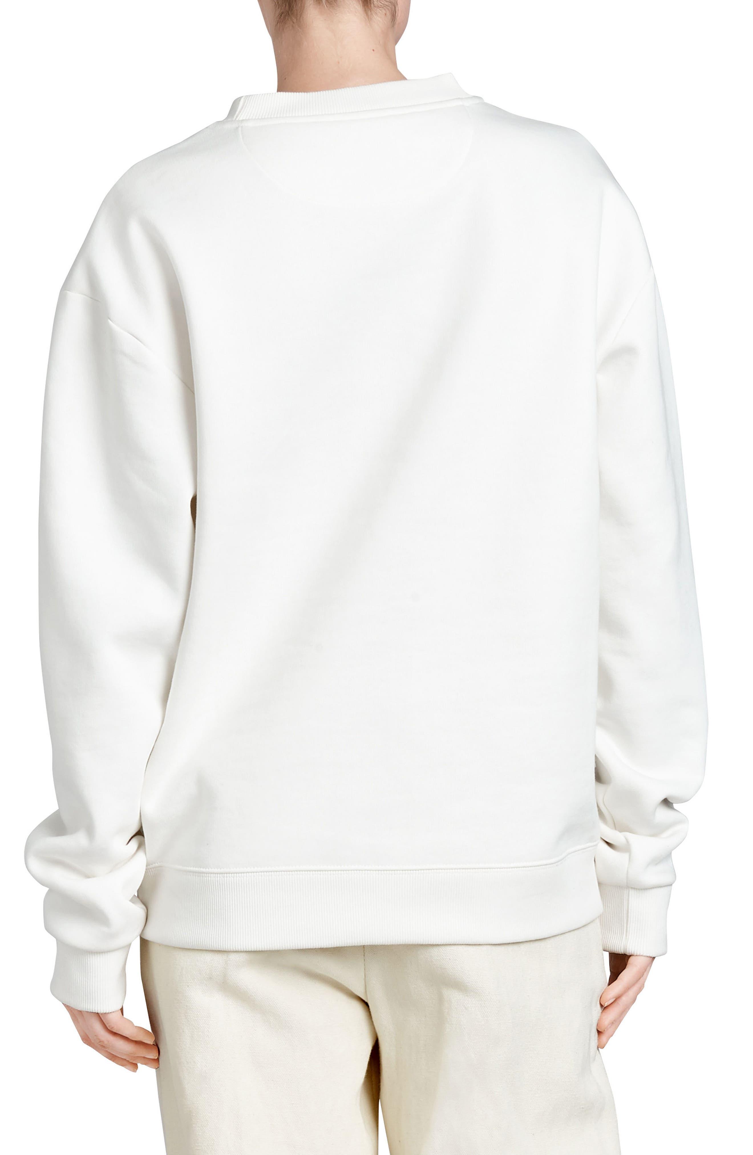 Vintage Crest Sweatshirt,                             Alternate thumbnail 2, color,                             OFF WHITE