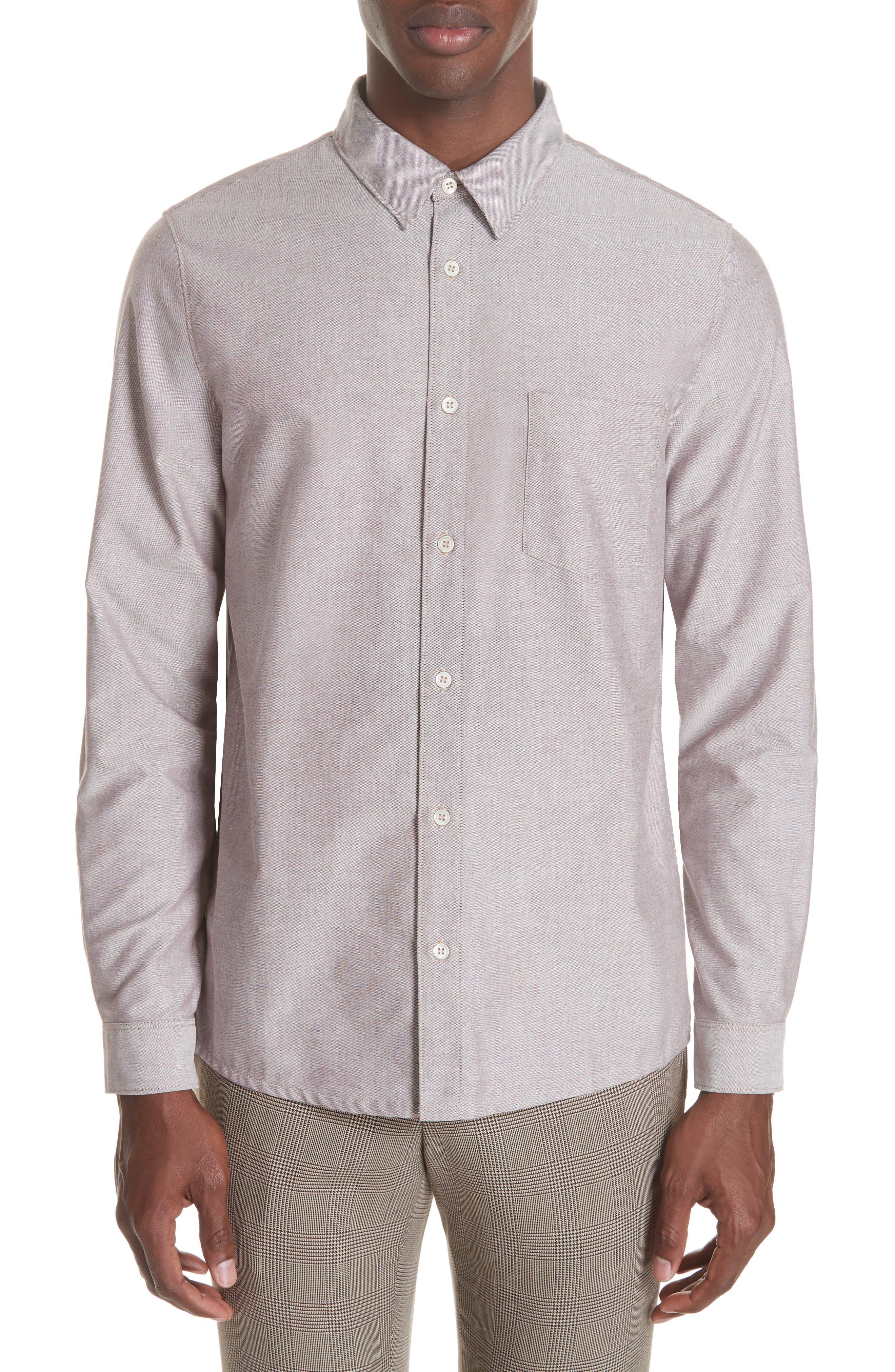 Oxford Sport Shirt,                         Main,                         color, GAC BORDE