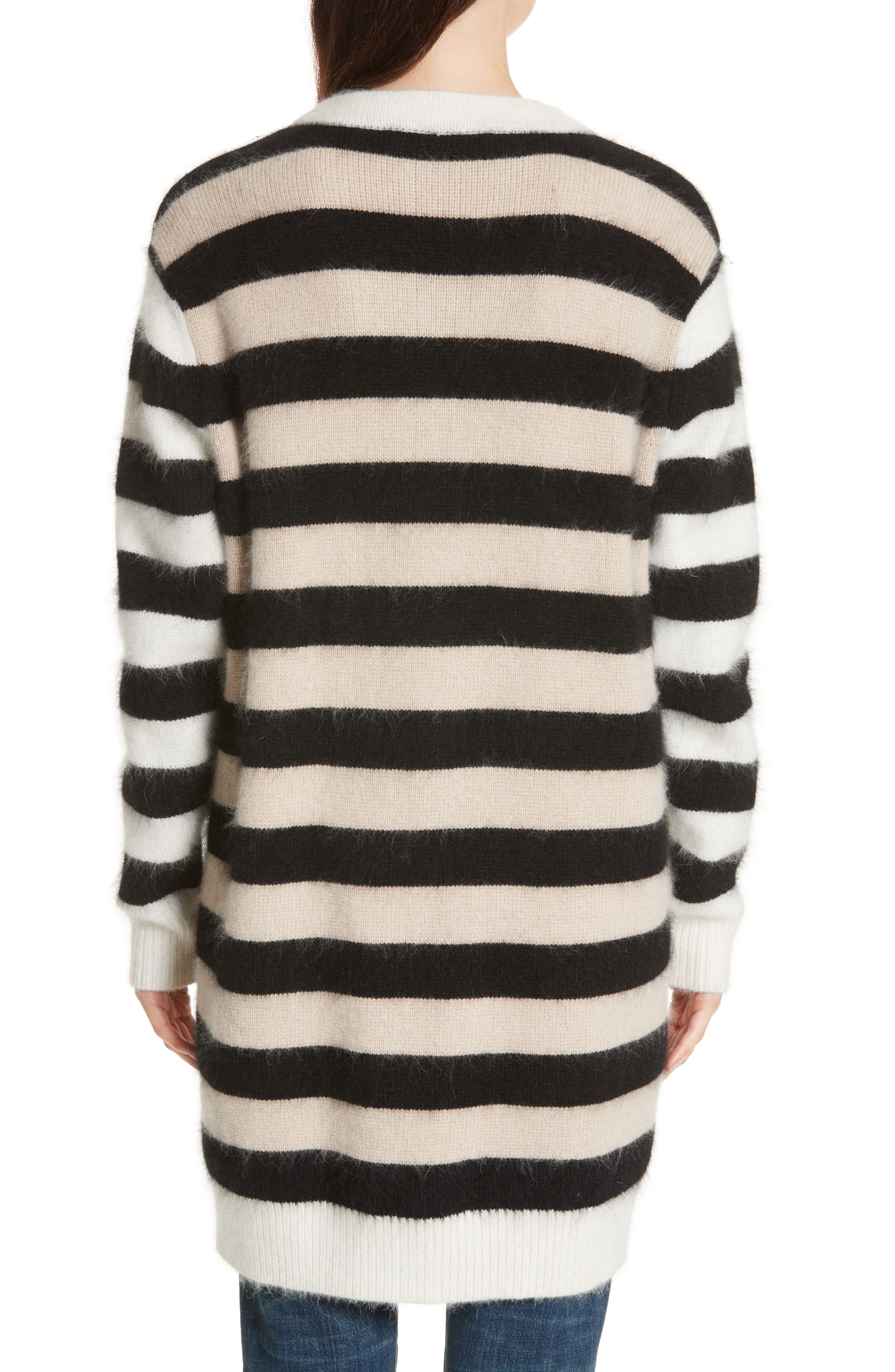 Stripe Oversize Cardigan,                             Alternate thumbnail 2, color,                             001