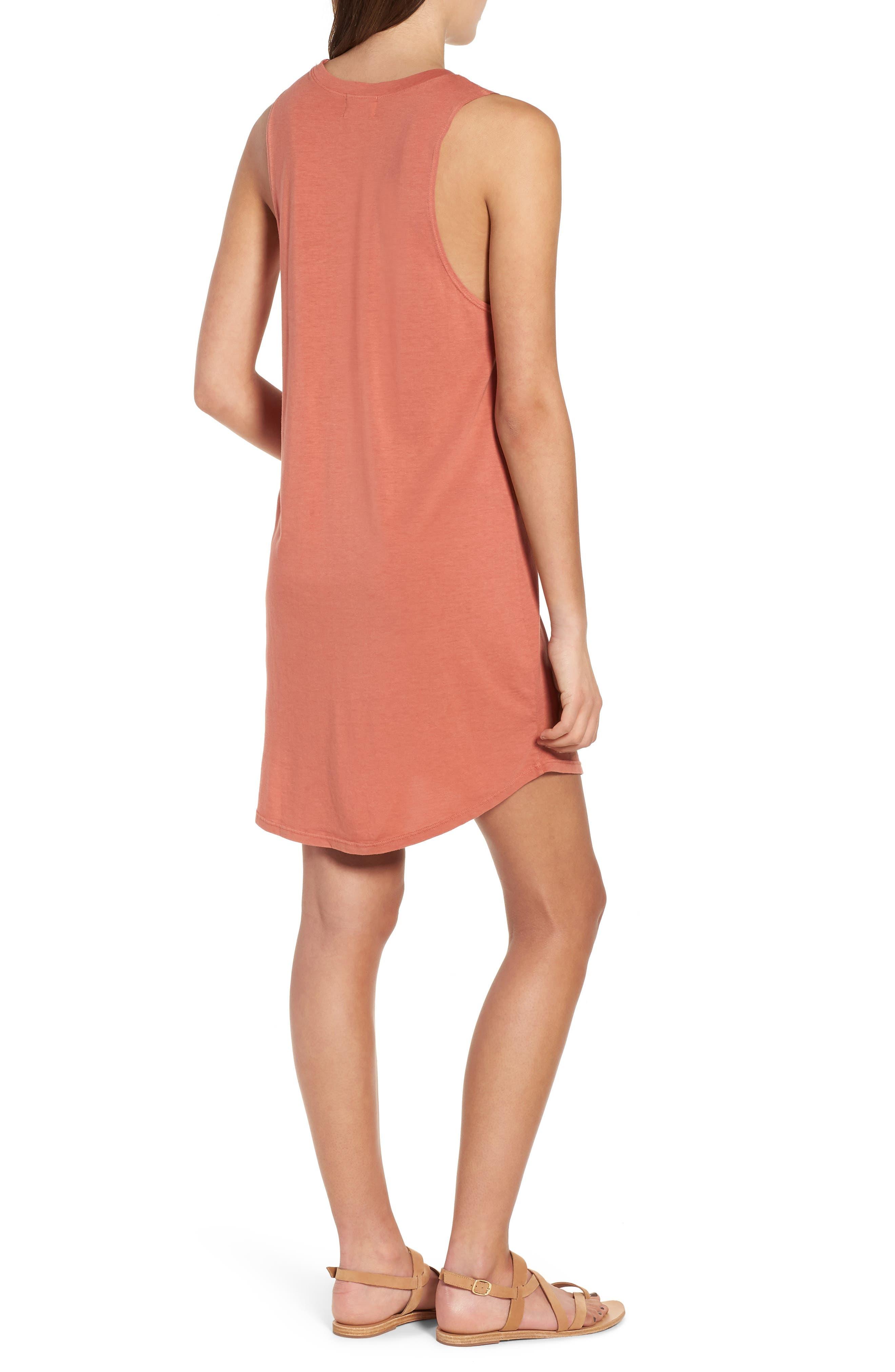 Pocket Tank Dress,                             Alternate thumbnail 2, color,                             PINK DESERT