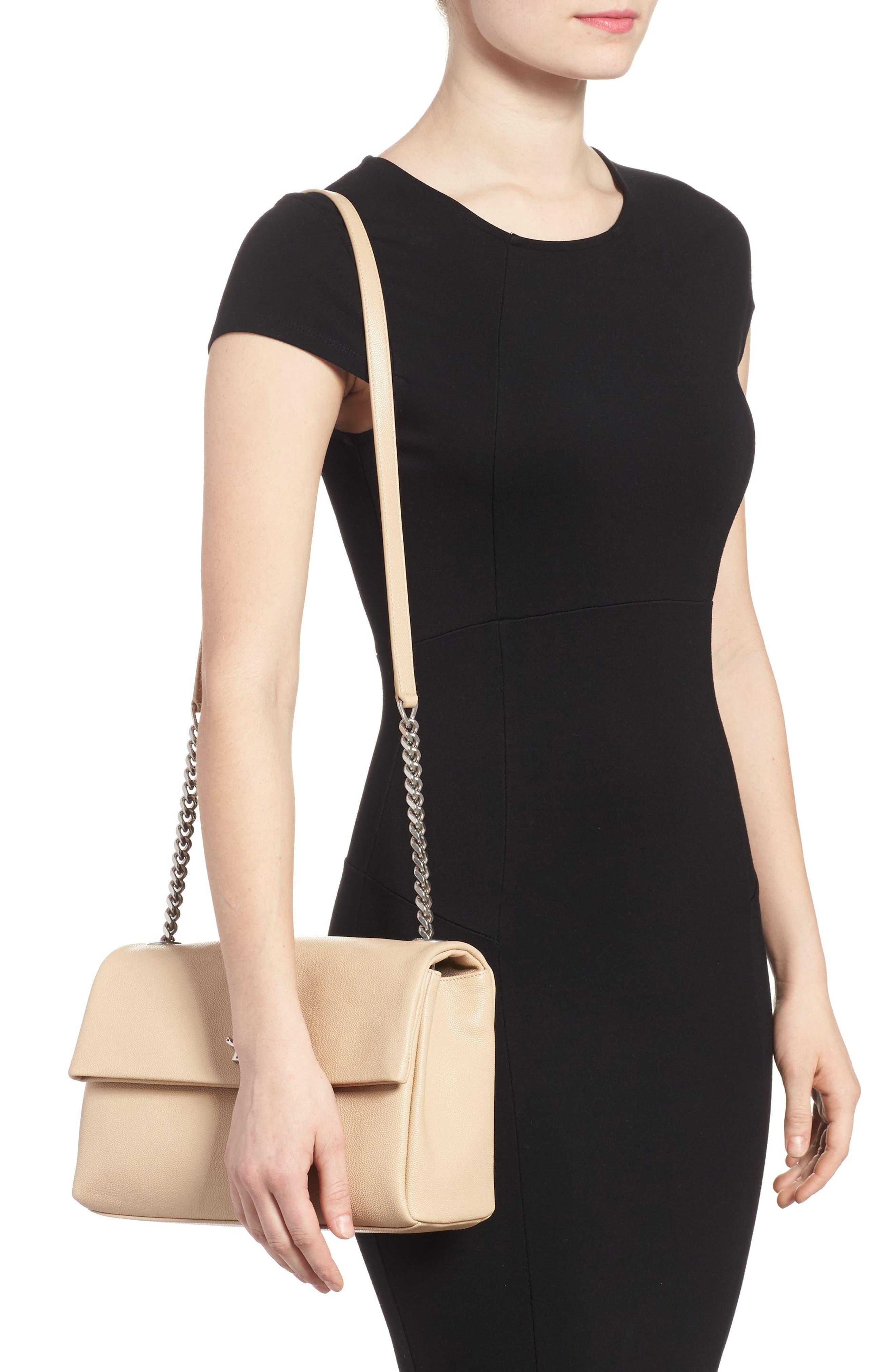Medium West Hollywood Leather Shoulder Bag,                             Alternate thumbnail 6, color,