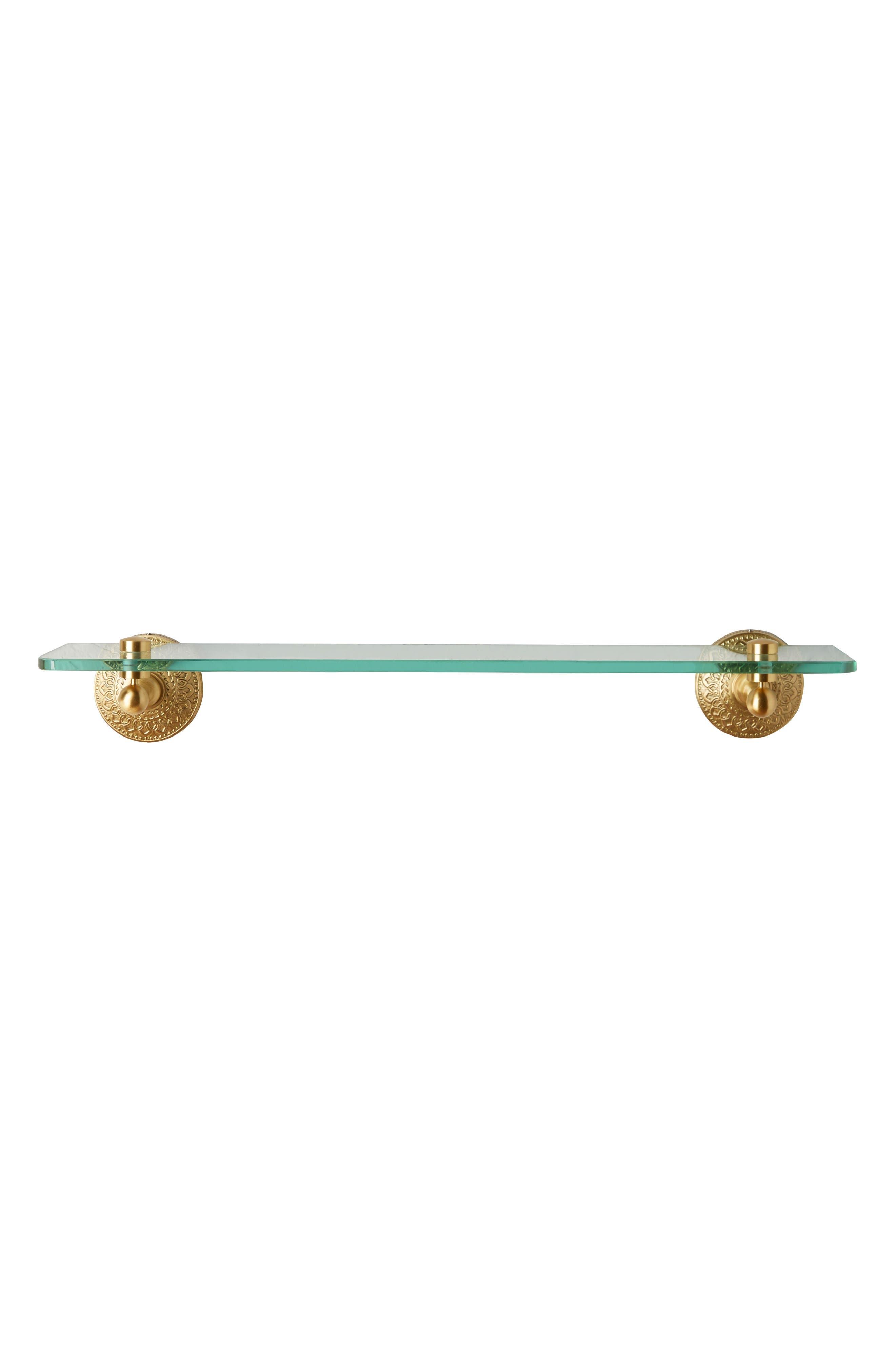 Brass Medallion Shelf,                             Alternate thumbnail 4, color,                             710