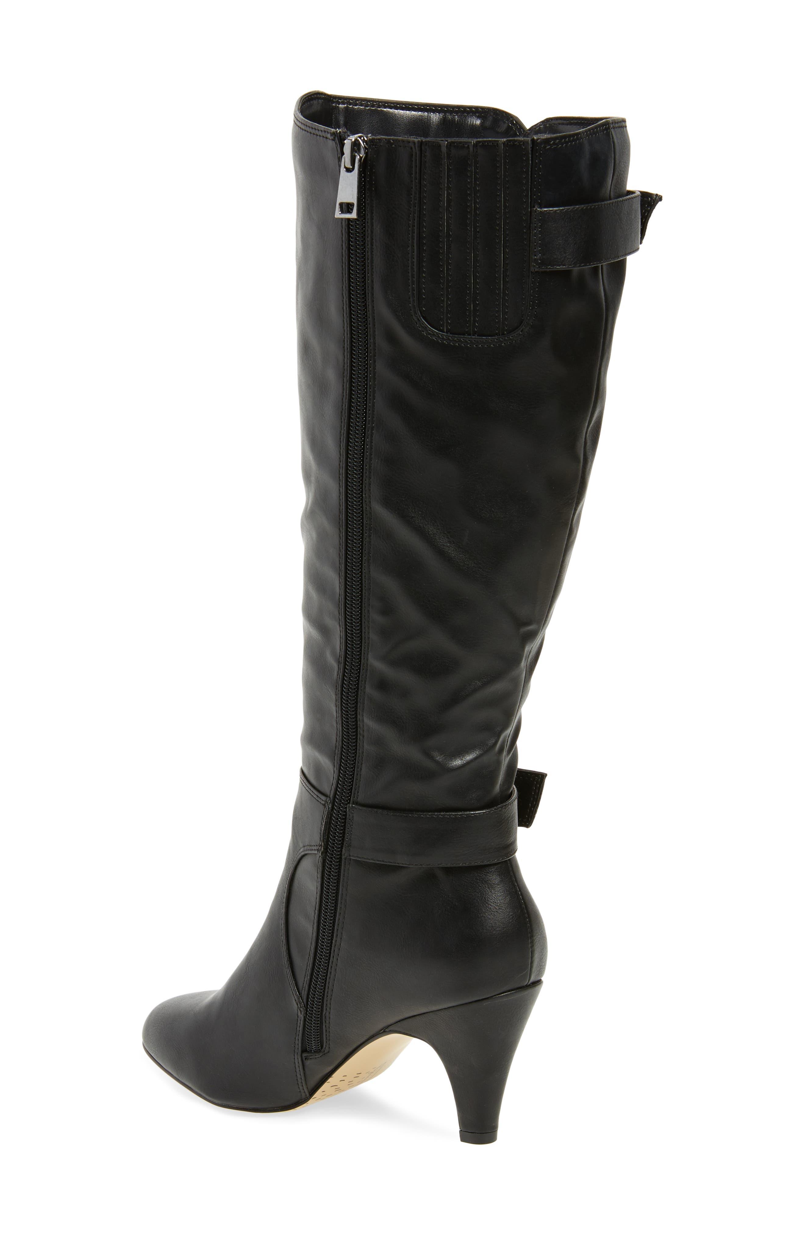 Toni II Knee High Boot,                             Alternate thumbnail 2, color,                             BLACK