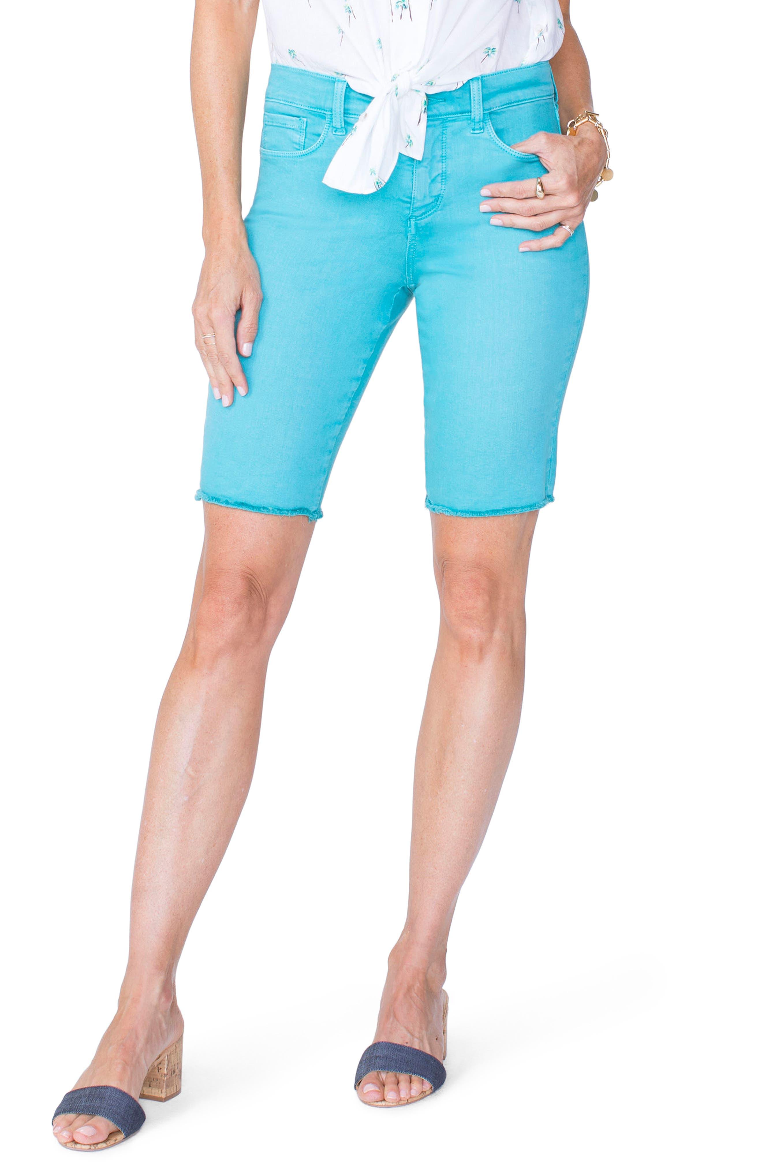 Briella Frayed Hem Bermuda Shorts,                             Main thumbnail 3, color,