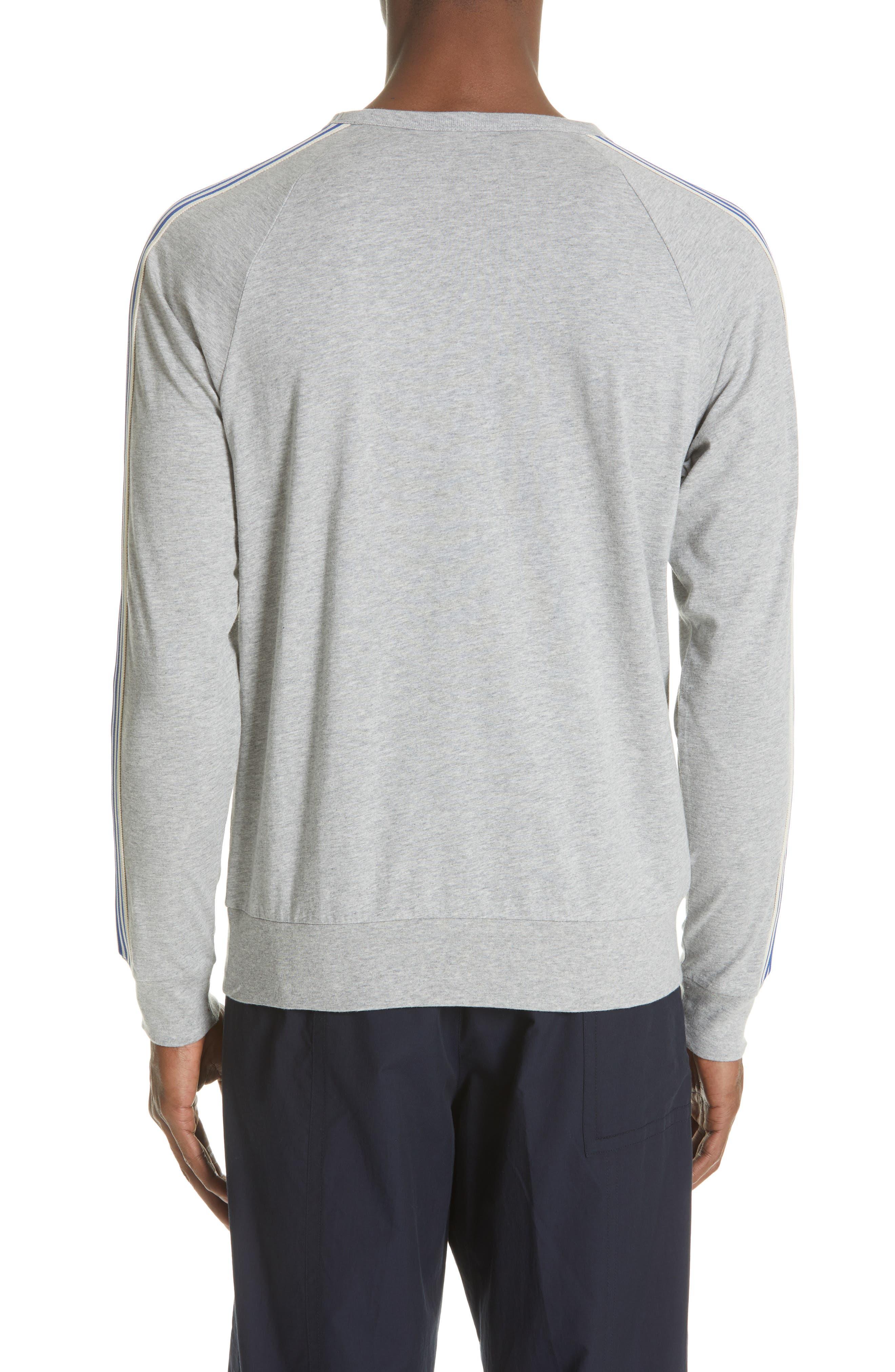 Hoyt Stripe Sleeve Sweatshirt,                             Alternate thumbnail 2, color,                             GREY MELANGE