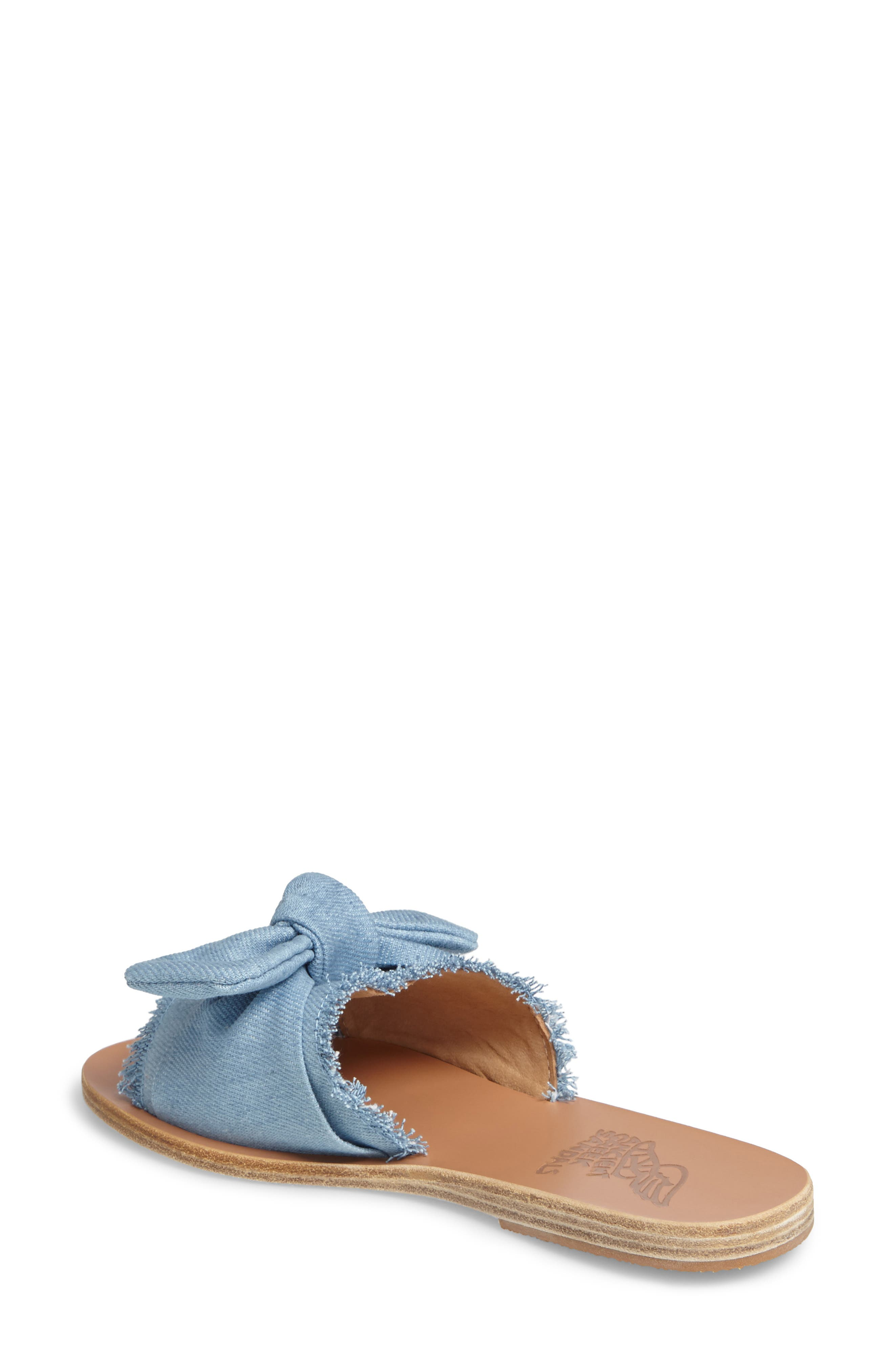 Taygete Bow Slide Sandal,                             Alternate thumbnail 6, color,