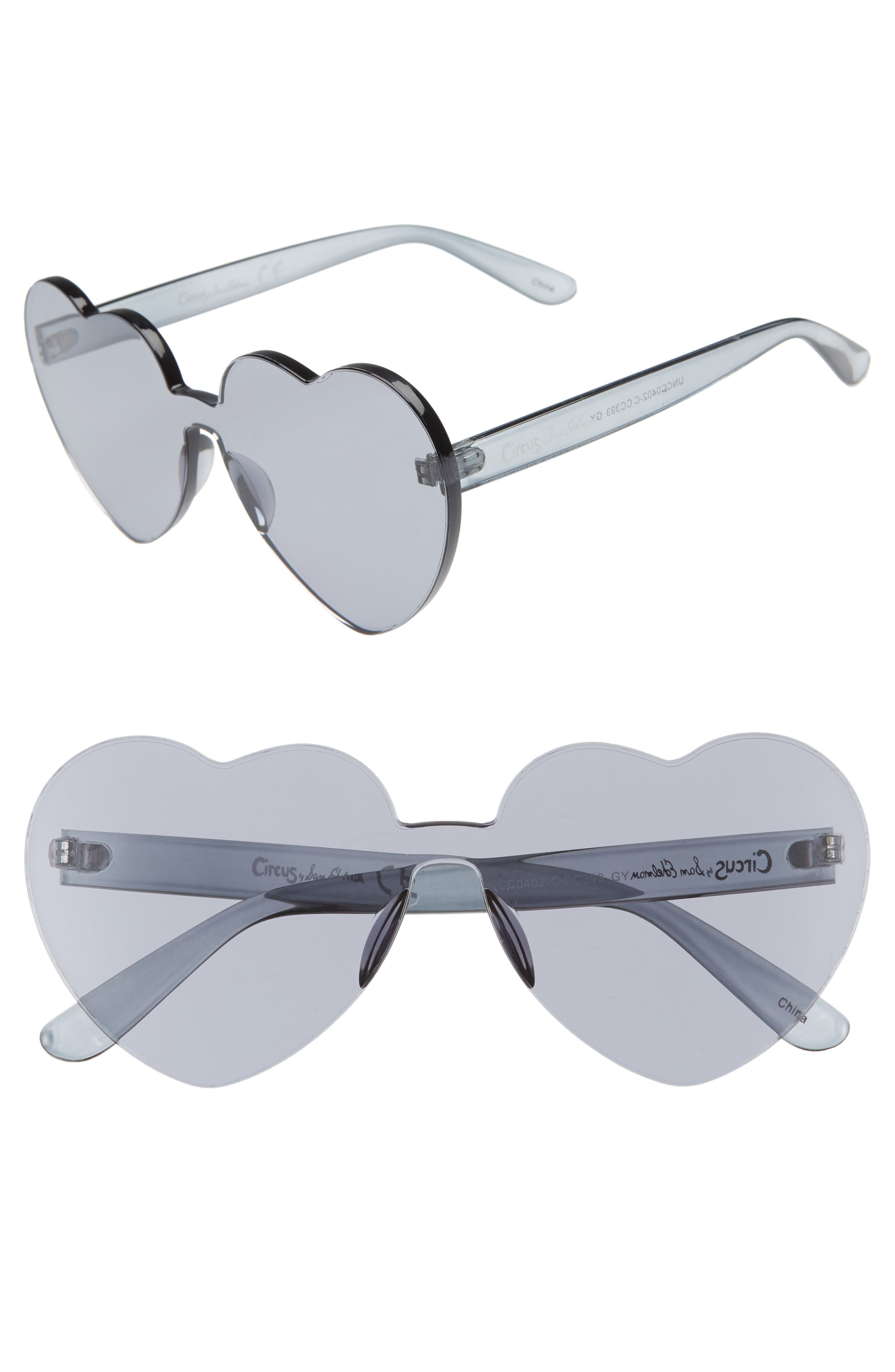 CIRCUS BY SAM EDELMAN 60Mm Heart Shield Sunglasses - Grey