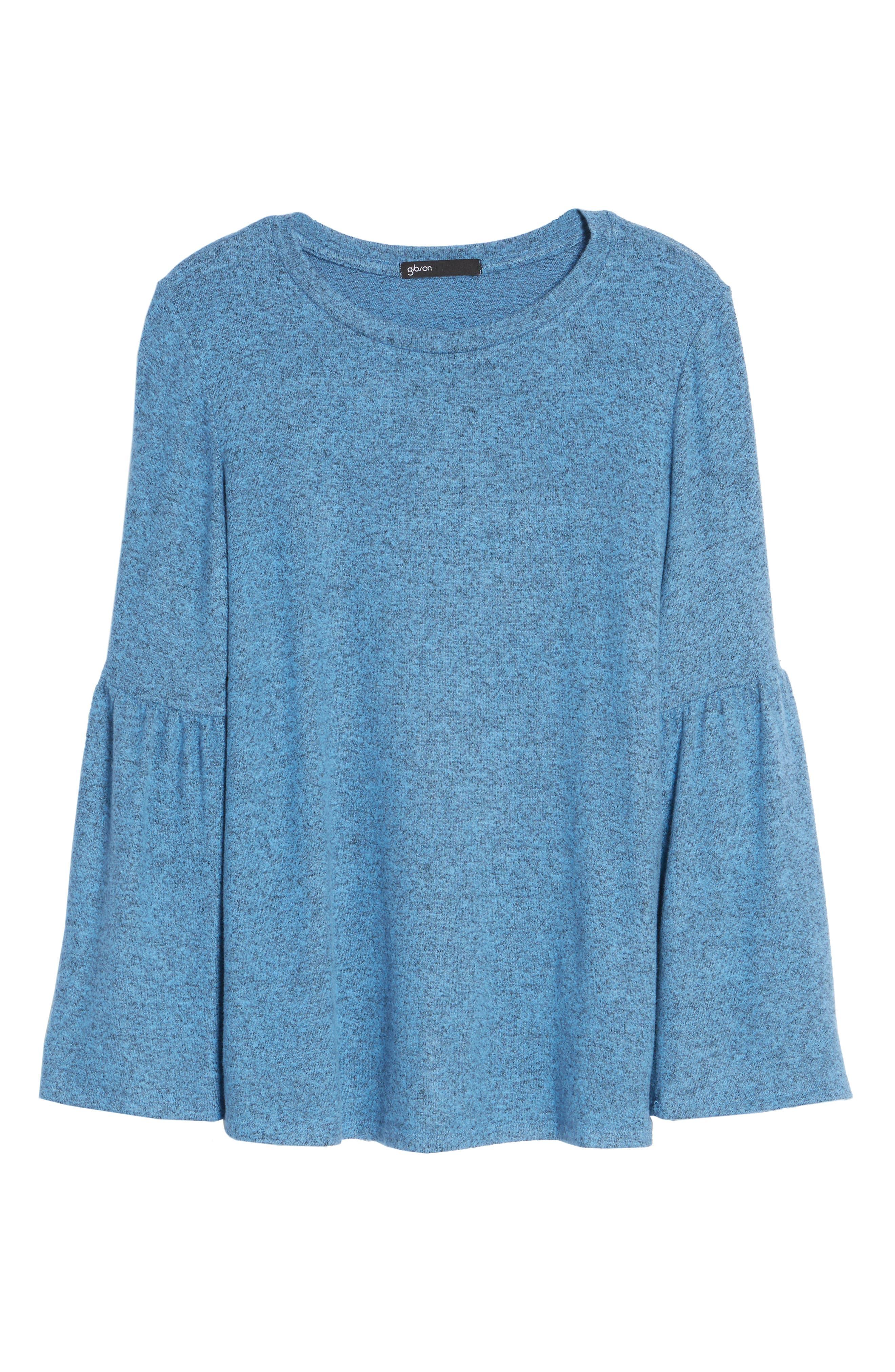 Bell Sleeve Cozy Fleece Pullover,                             Alternate thumbnail 63, color,