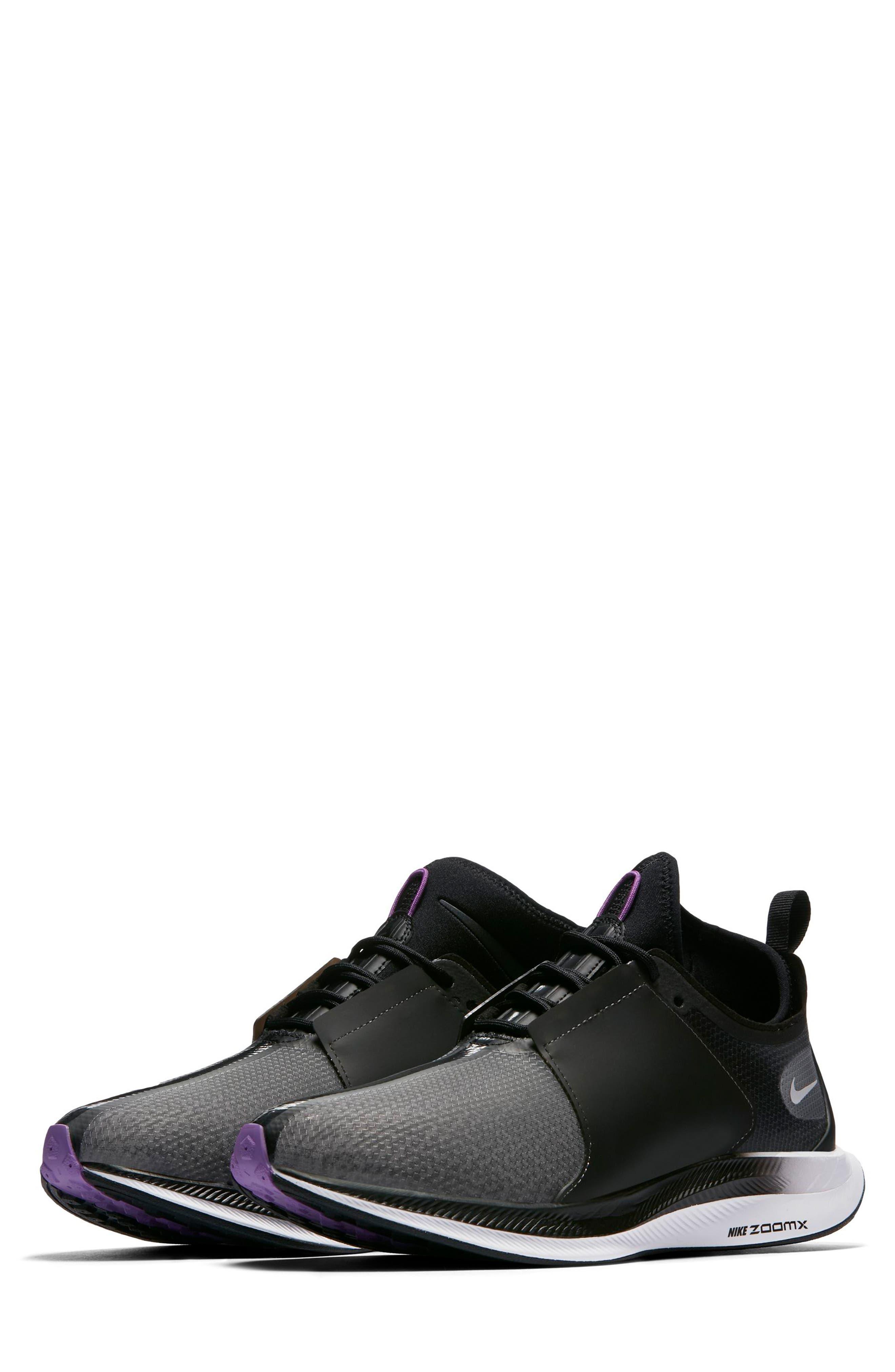 Zoom Pegasus Turbo XX Running Shoe,                             Main thumbnail 1, color,                             BLACK/ BLACK/ WHITE