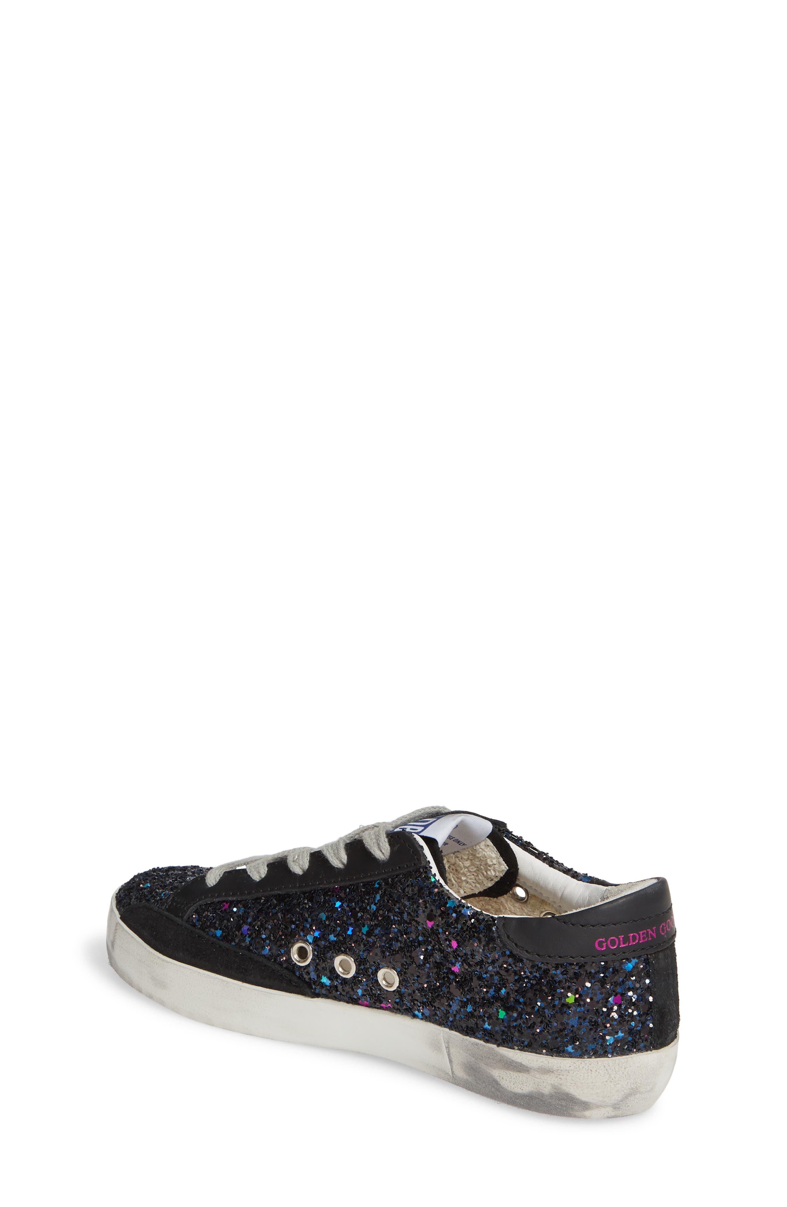 GOLDEN GOOSE,                             Superstar Glitter Low Top Sneaker,                             Alternate thumbnail 2, color,                             GALAXY GLITTER/ FUCHSIA STAR