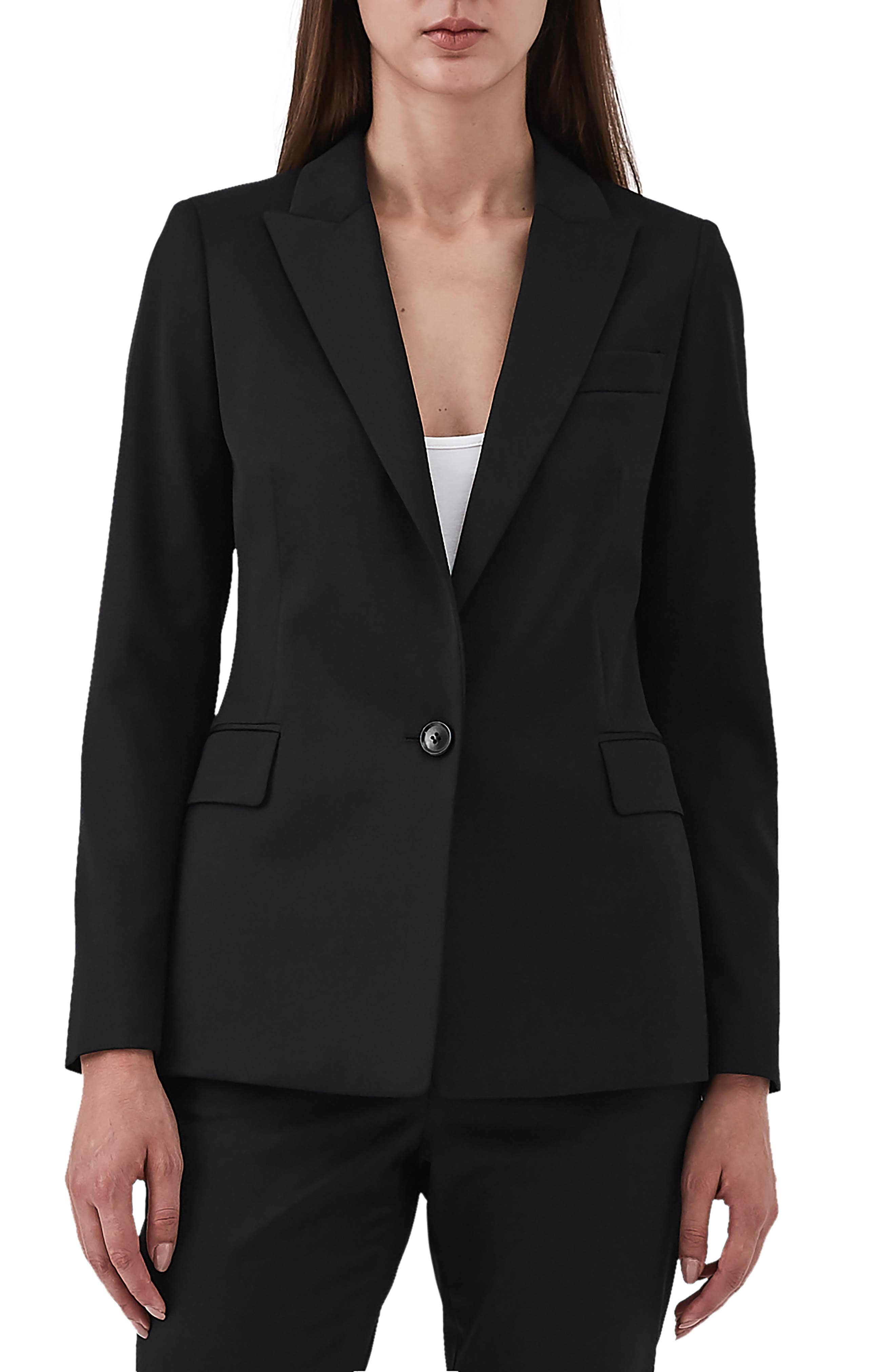REISS Harper Slim Fit Jacket in Black