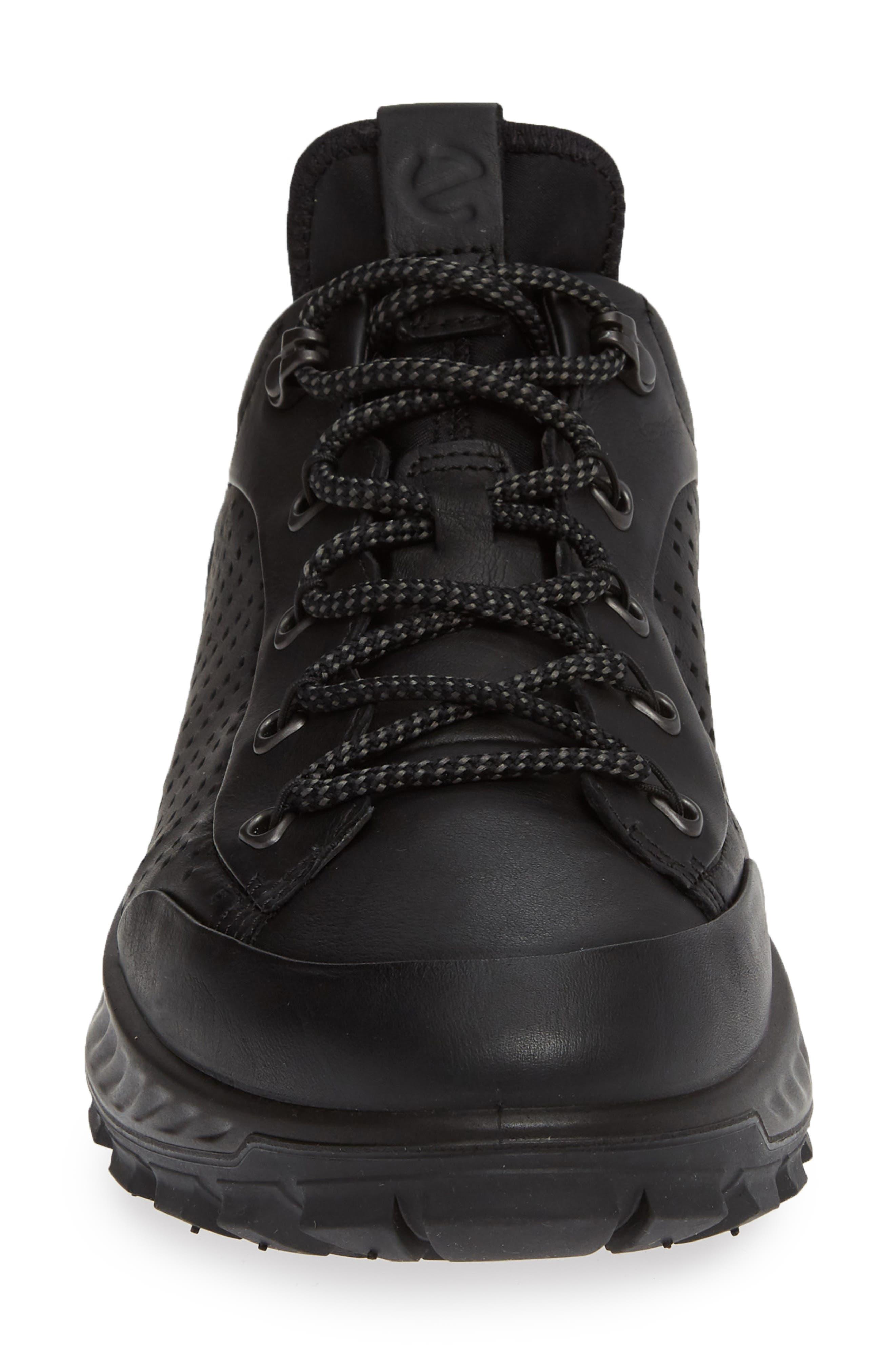 Exostrike High Top Sneaker,                             Alternate thumbnail 4, color,                             BLACK LEATHER