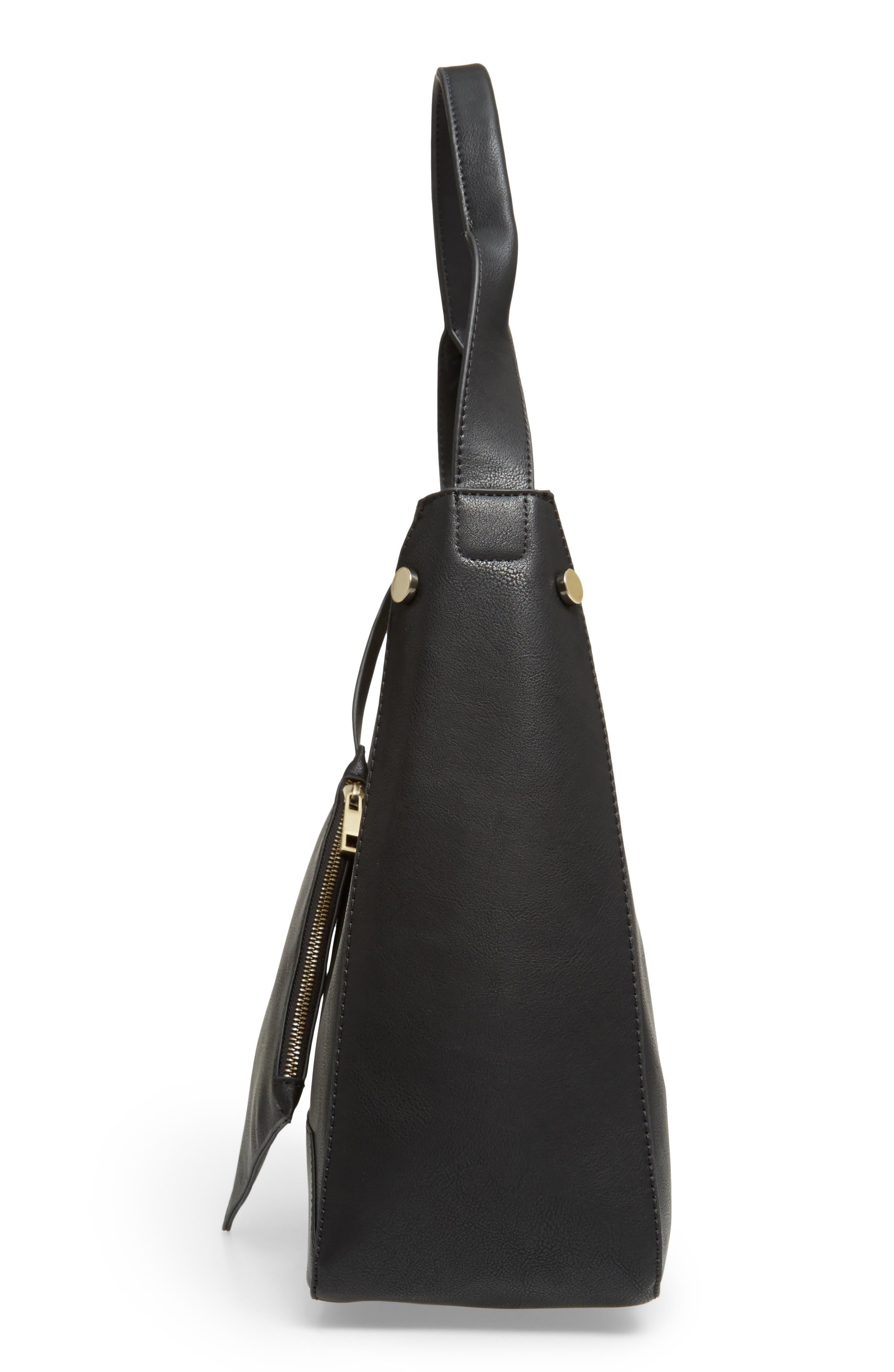 Alani Faux Leather Shoulder Bag,                             Alternate thumbnail 9, color,