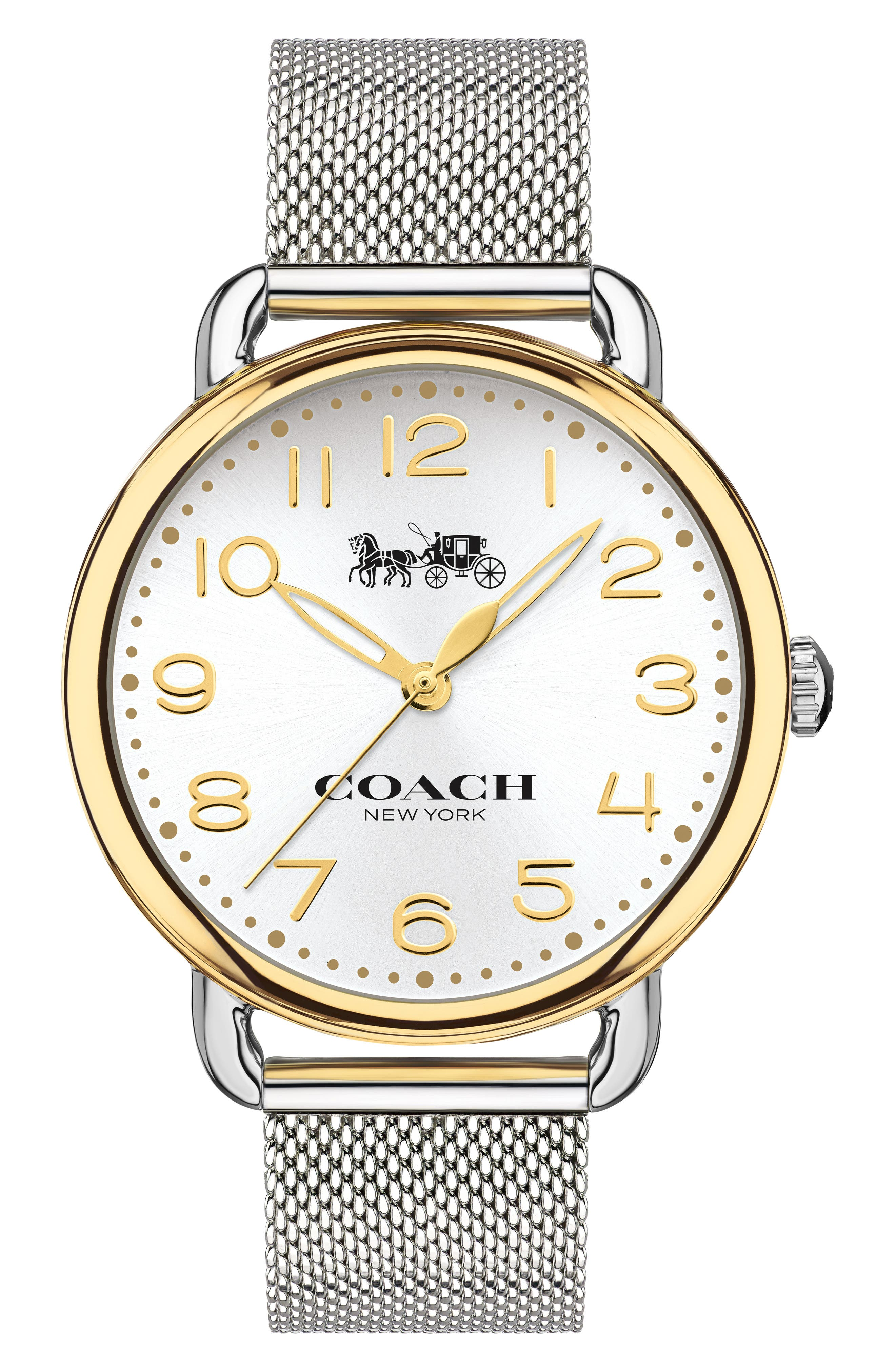 'Delancey' Round Watch, 36mm,                             Main thumbnail 1, color,                             SILVER/ GOLD