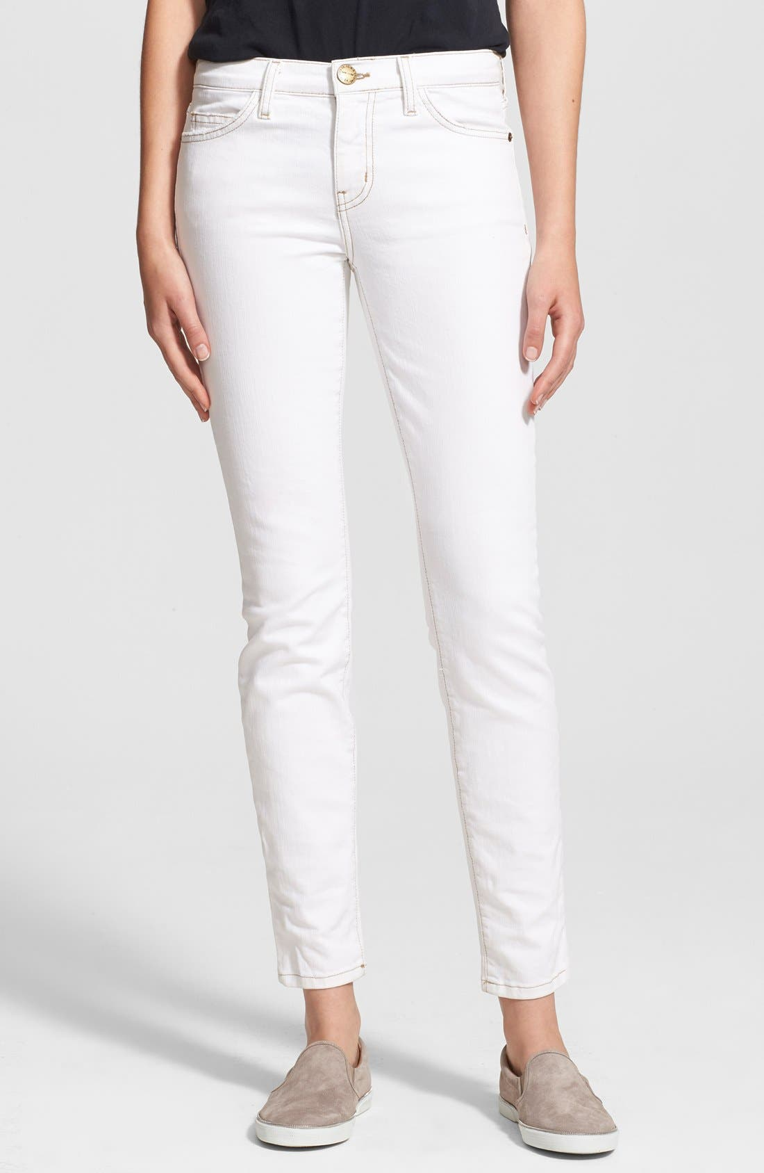 CURRENT/ELLIOTT 'The Ankle Skinny' Print Stretch Jeans, Main, color, 116