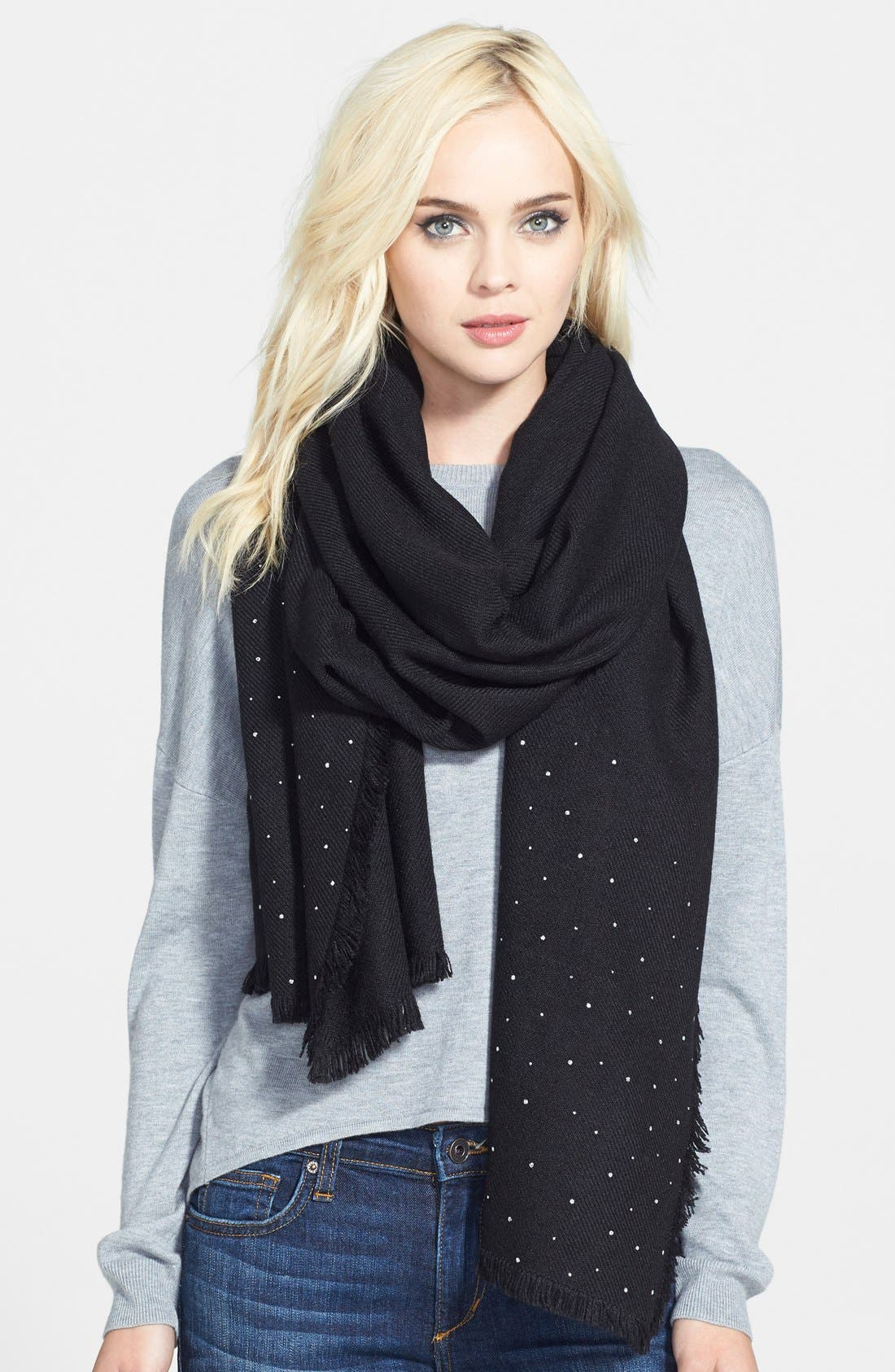 HALOGEN<SUP>®</SUP> 'Glitter Shine' Scarf, Main, color, 001