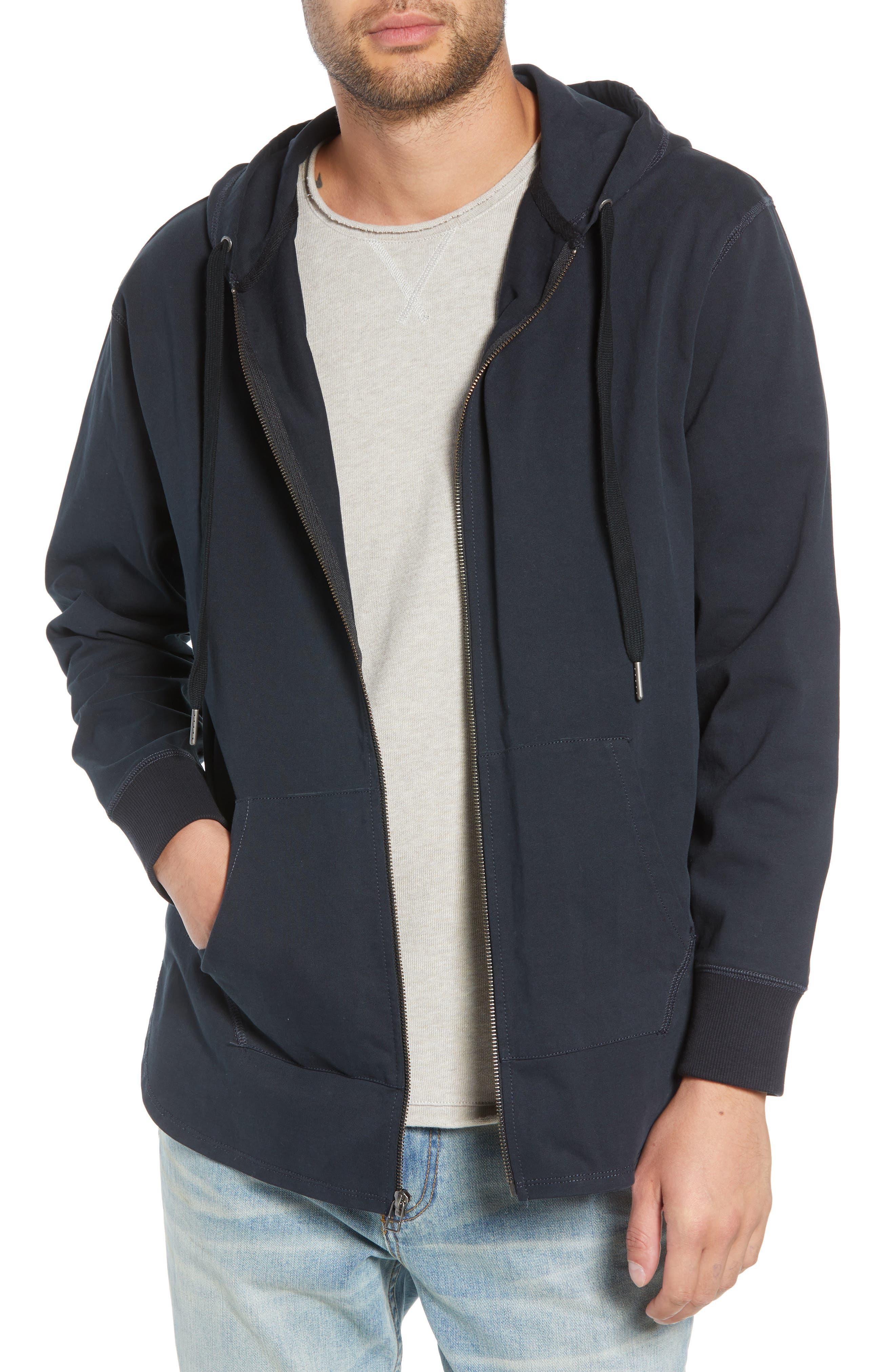 Jersey Zip Hoodie,                         Main,                         color, 001