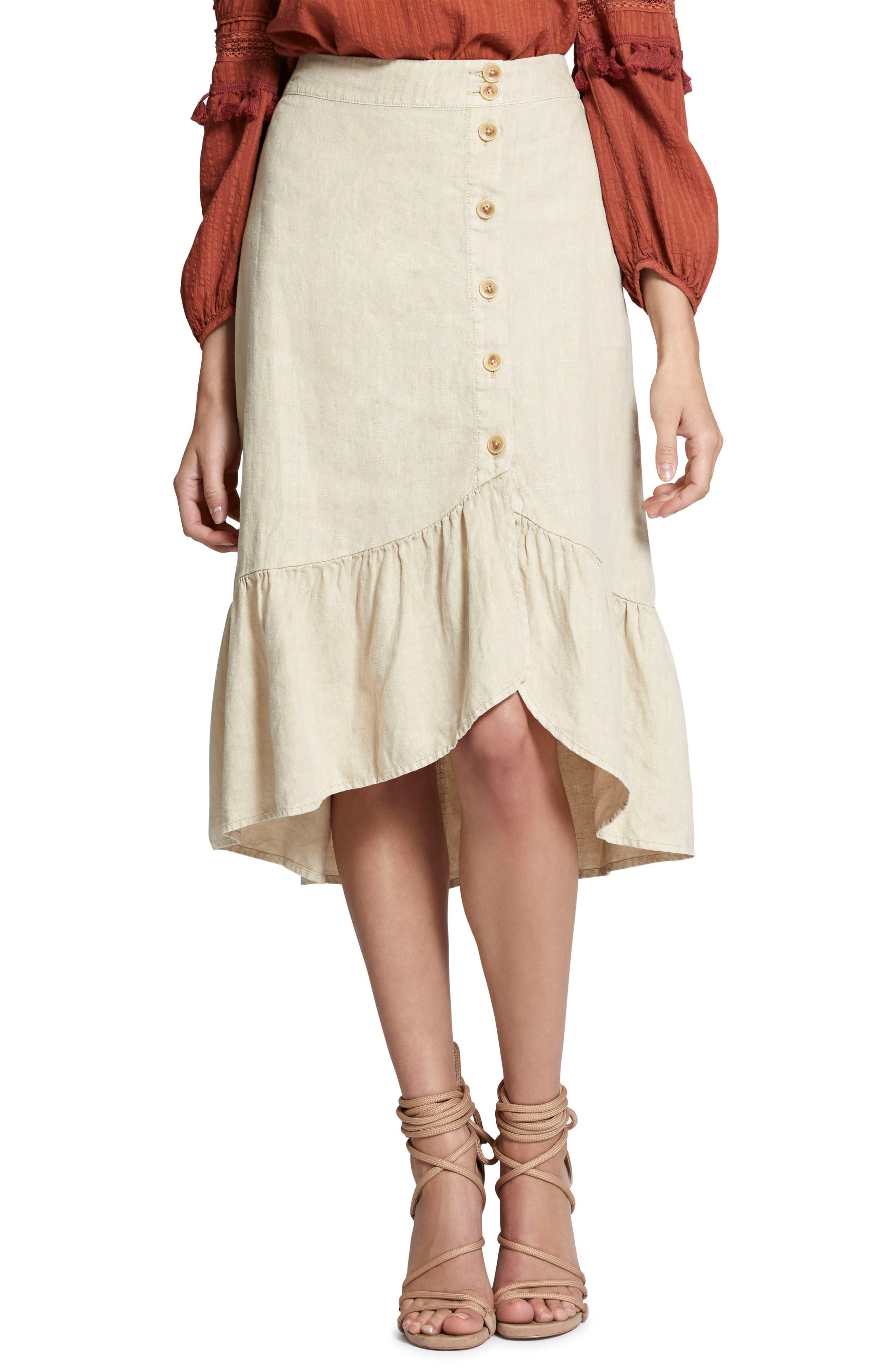 Lola Linen Skirt,                             Main thumbnail 1, color,