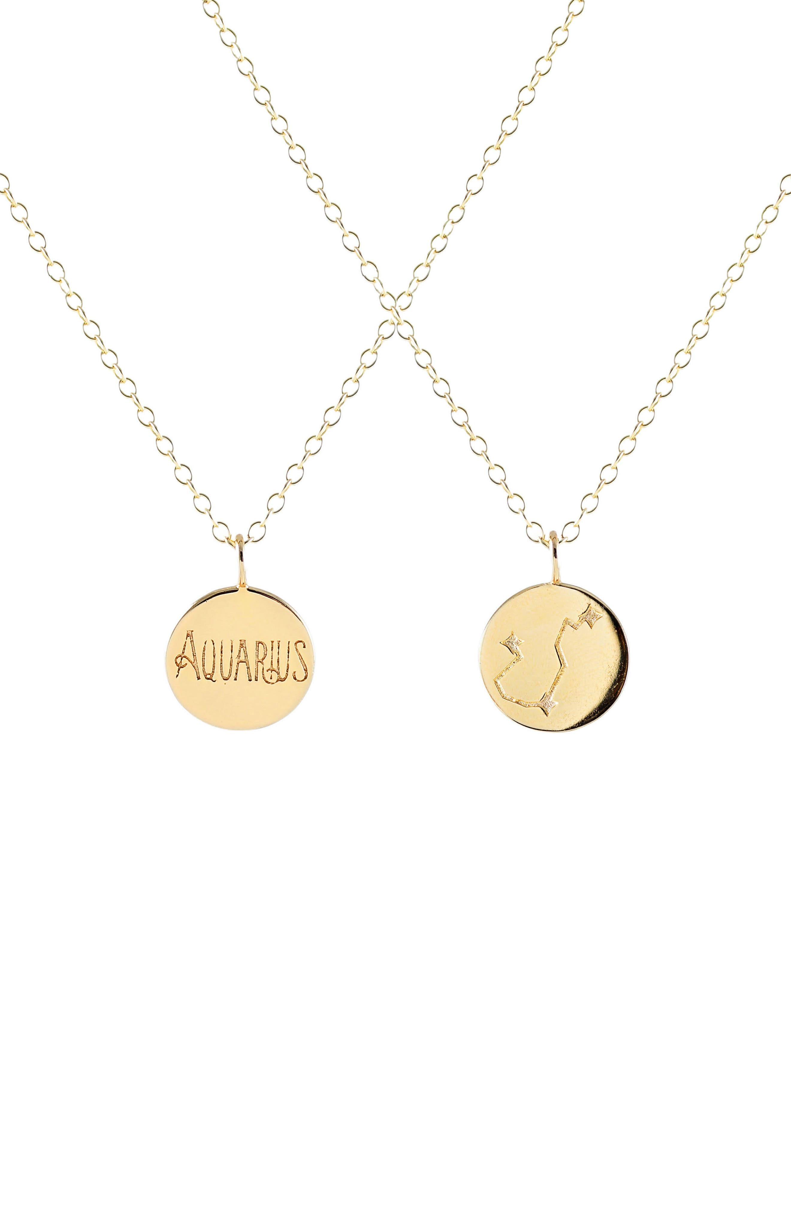 Zodiac Charm Necklace,                         Main,                         color, 710