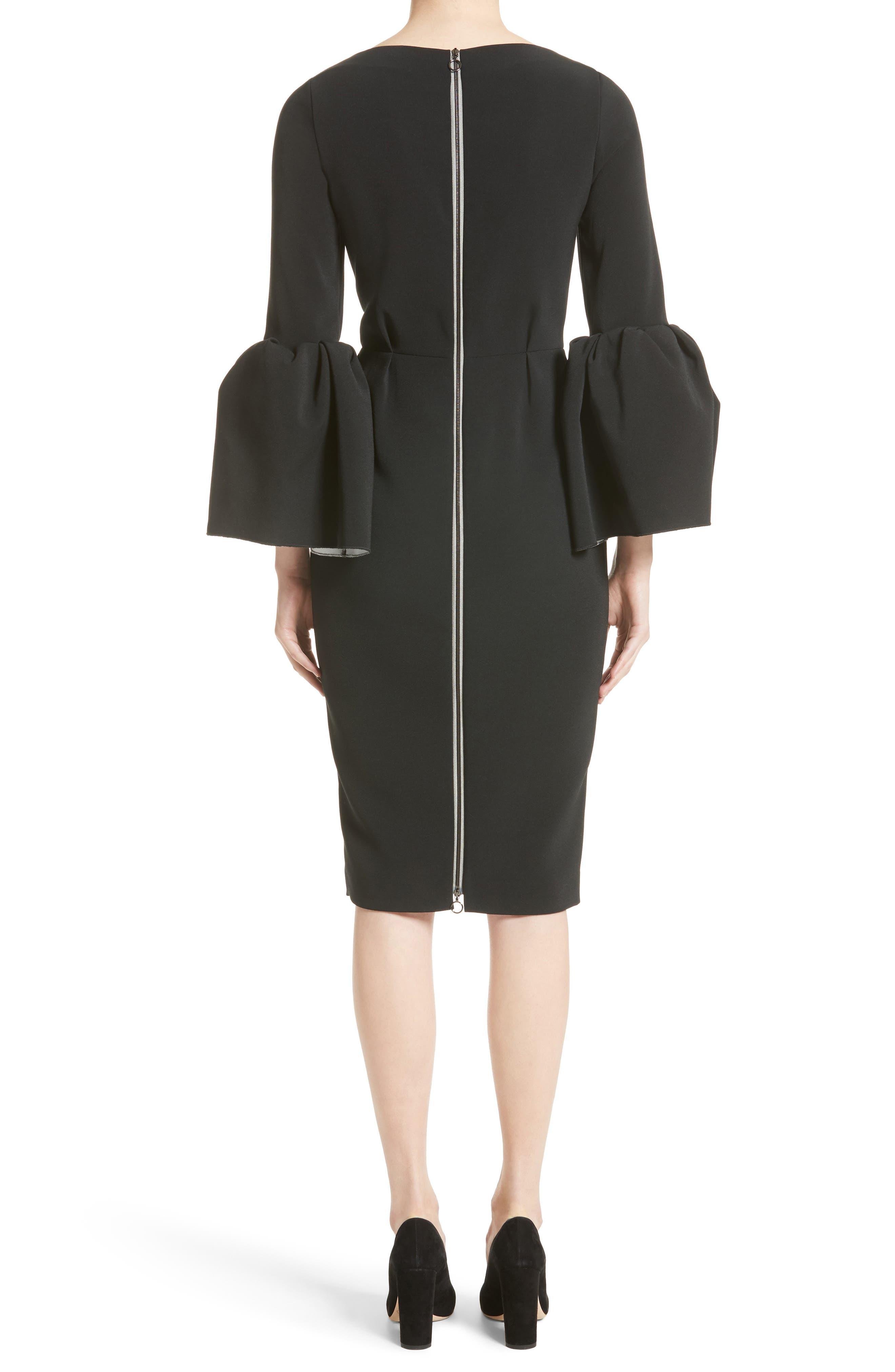 Margot Dress,                             Alternate thumbnail 2, color,                             BLACK/IVORY