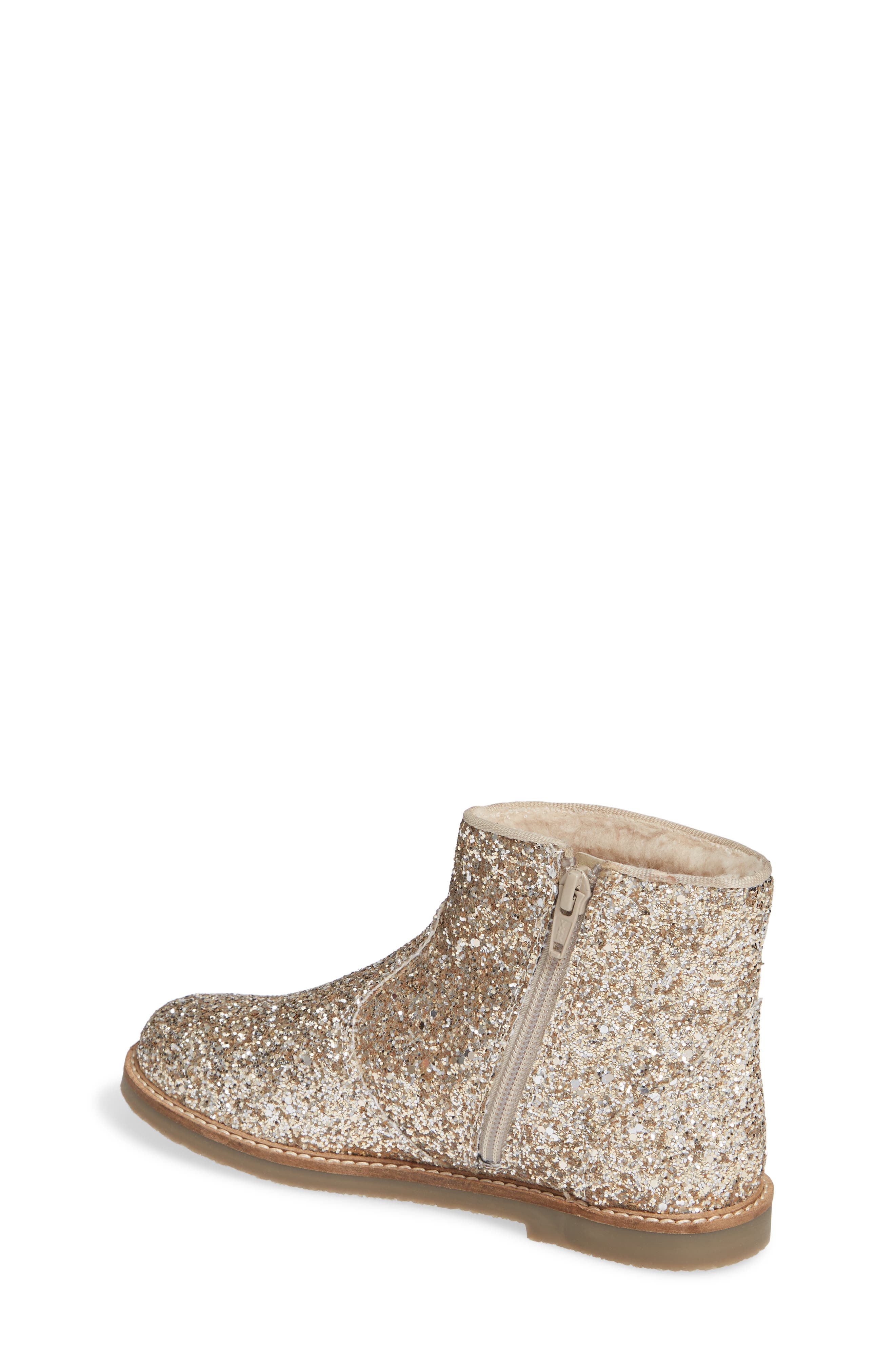 Glitter Booties,                             Alternate thumbnail 2, color,                             SILVER/ GOLD
