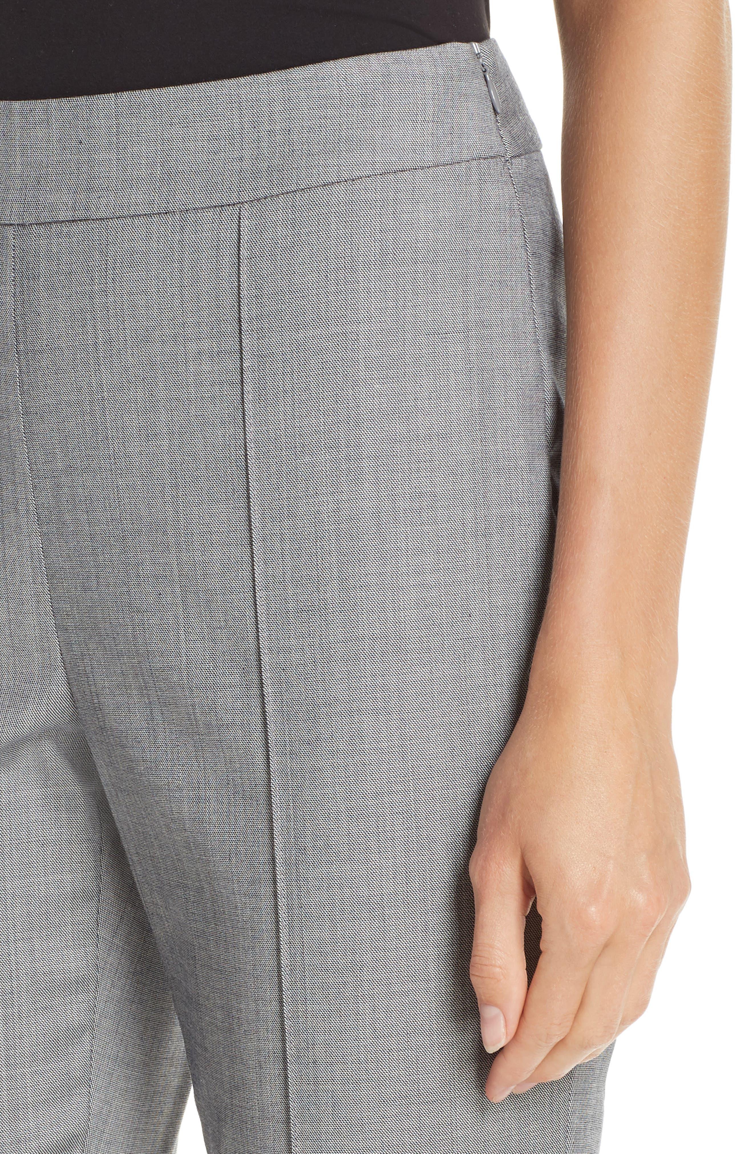 Sharkskin Stretch Wool Blend Skinny Ankle Pants,                             Alternate thumbnail 4, color,                             GREY MULTI
