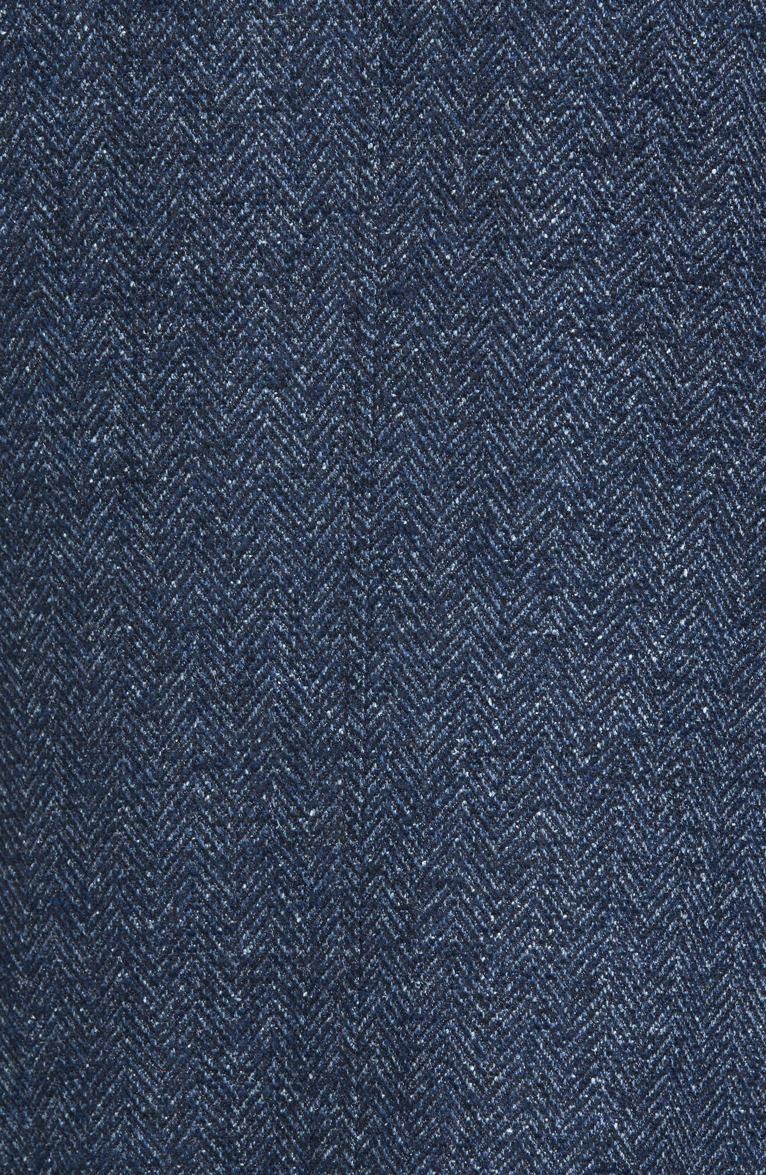 Trim Fit Herringbone Wool Blend Sport Coat,                             Alternate thumbnail 6, color,