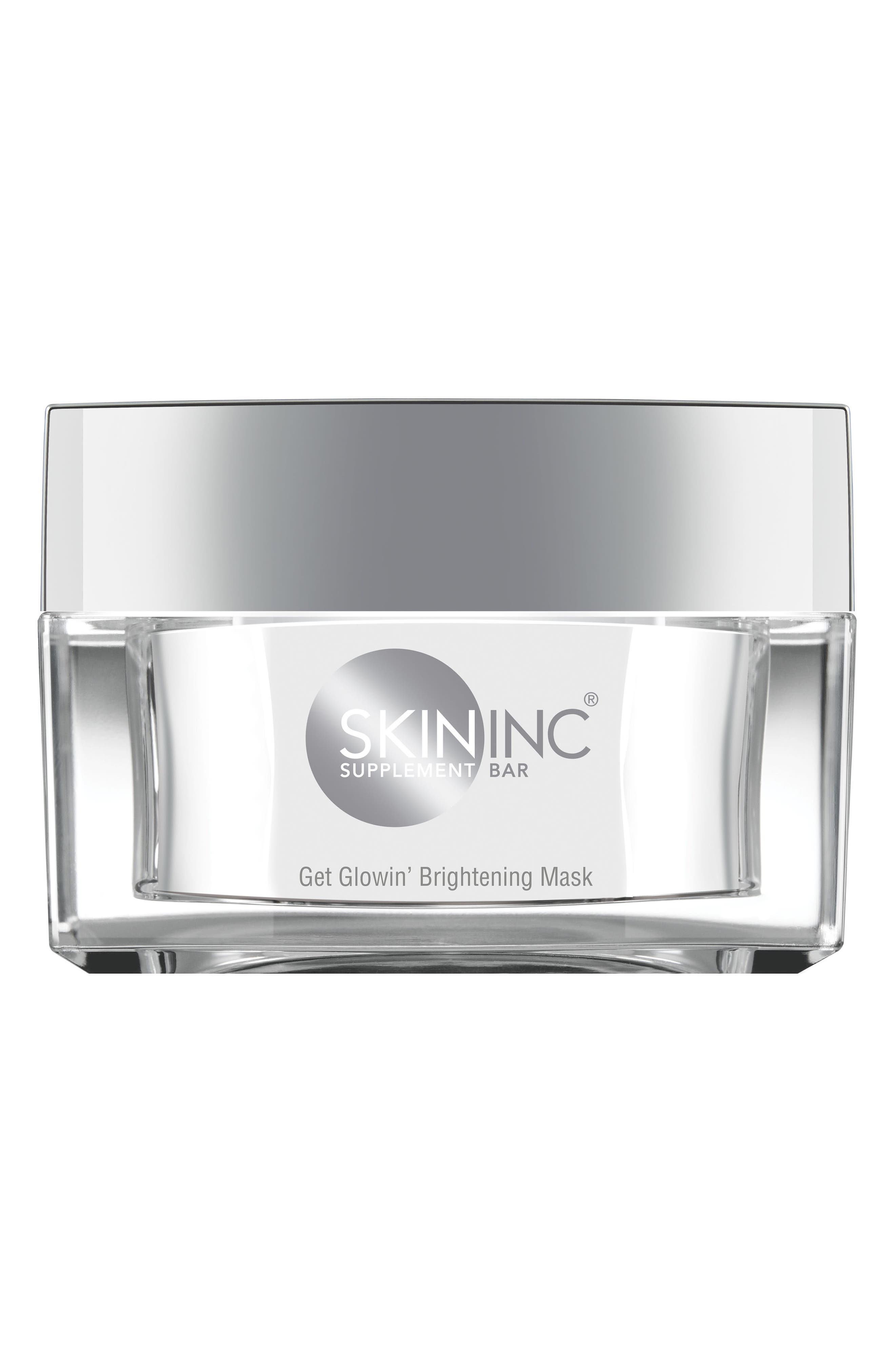 SKIN INC,                              Get Glowin' Brightening Mask,                             Main thumbnail 1, color,                             NO COLOR