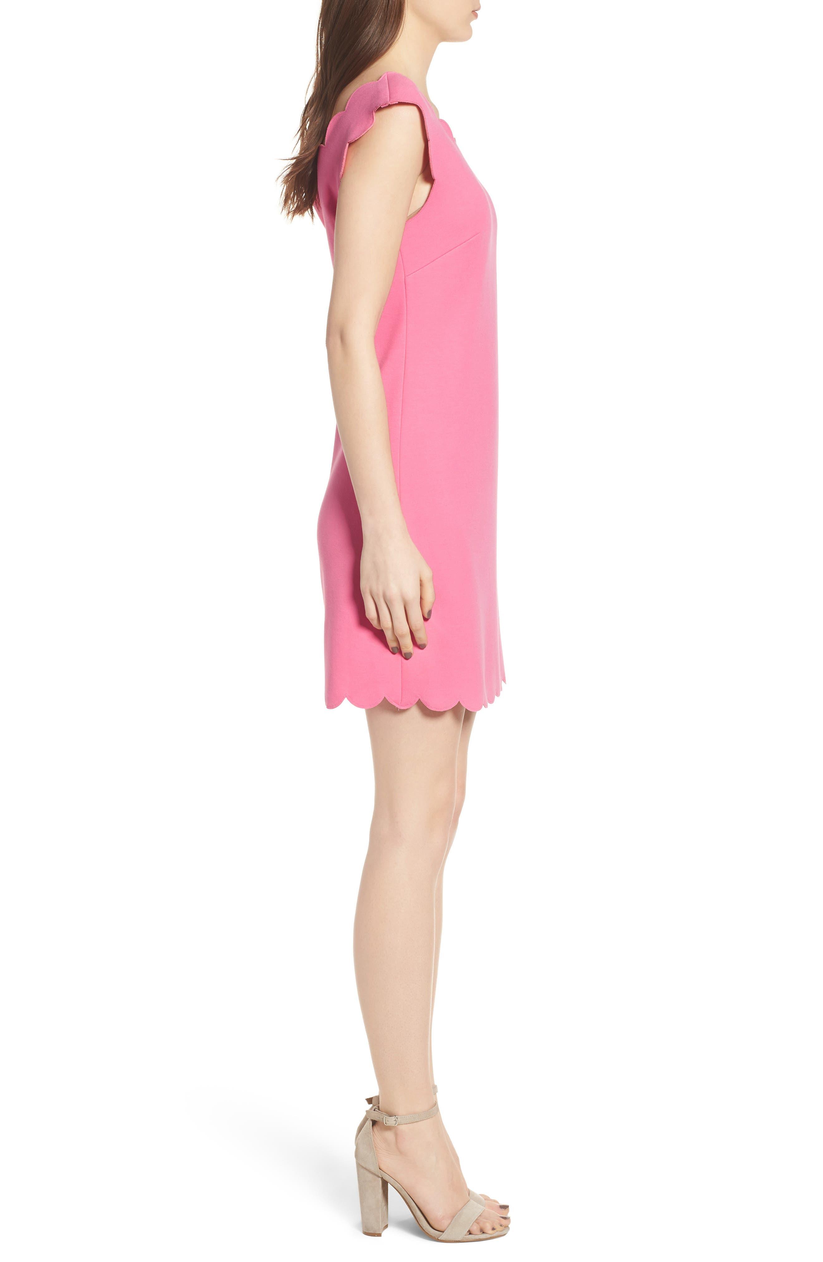 Petal Scalloped A-Line Dress,                             Alternate thumbnail 6, color,