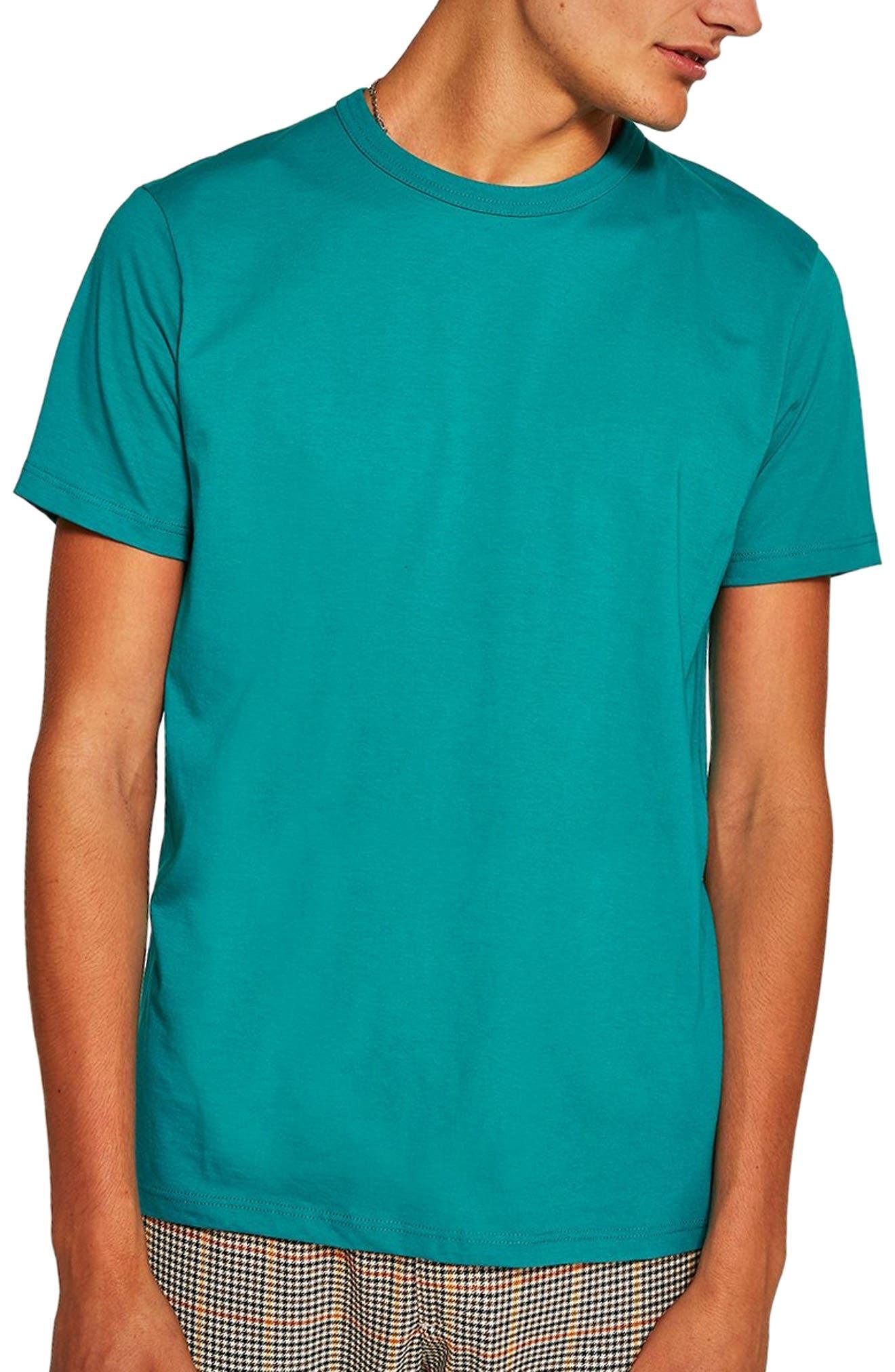 Classic Fit T-Shirt,                         Main,                         color, AQUA