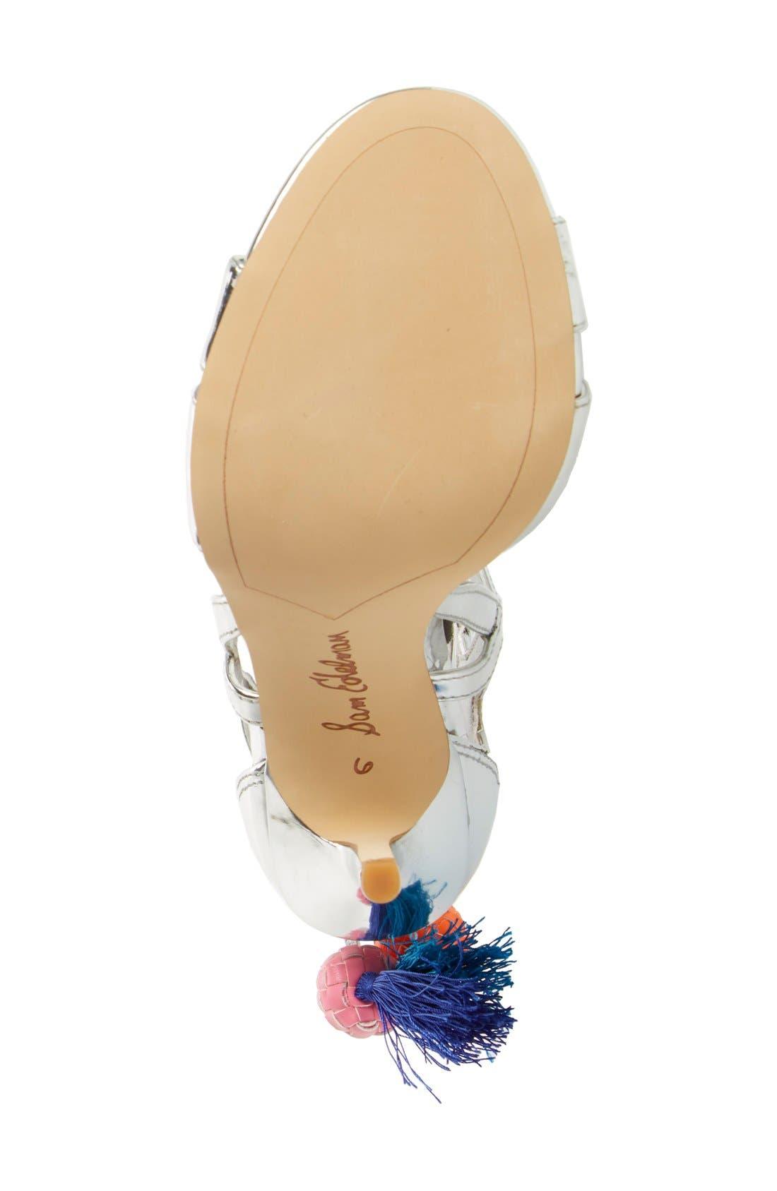 'Azela' Tassel Lace-Up Sandal,                             Alternate thumbnail 2, color,                             040