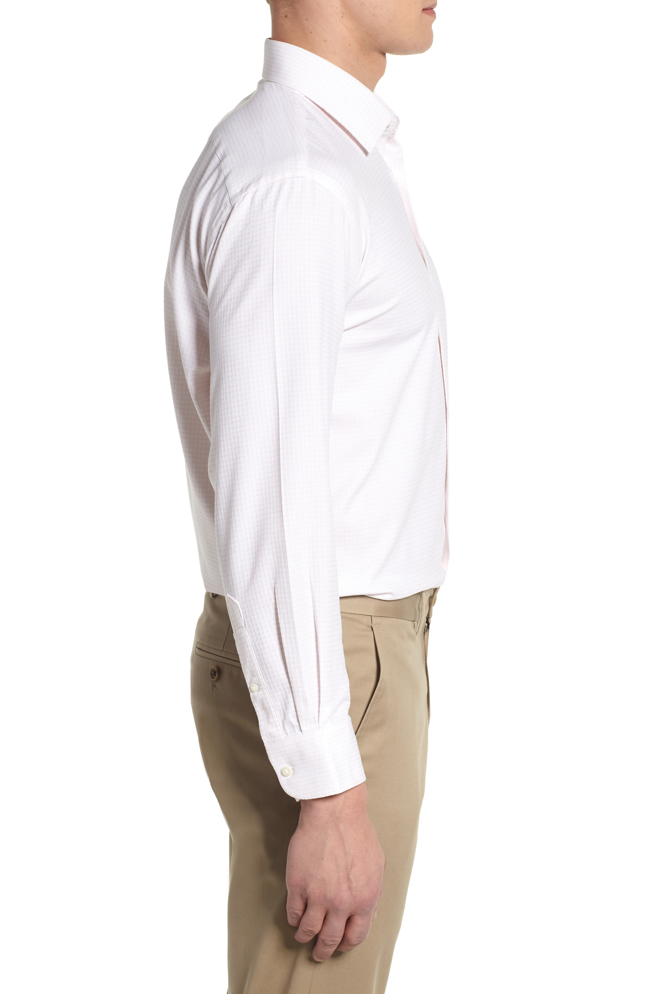 Tech-Smart Traditional Fit Stretch Tattersall Dress Shirt,                             Alternate thumbnail 6, color,