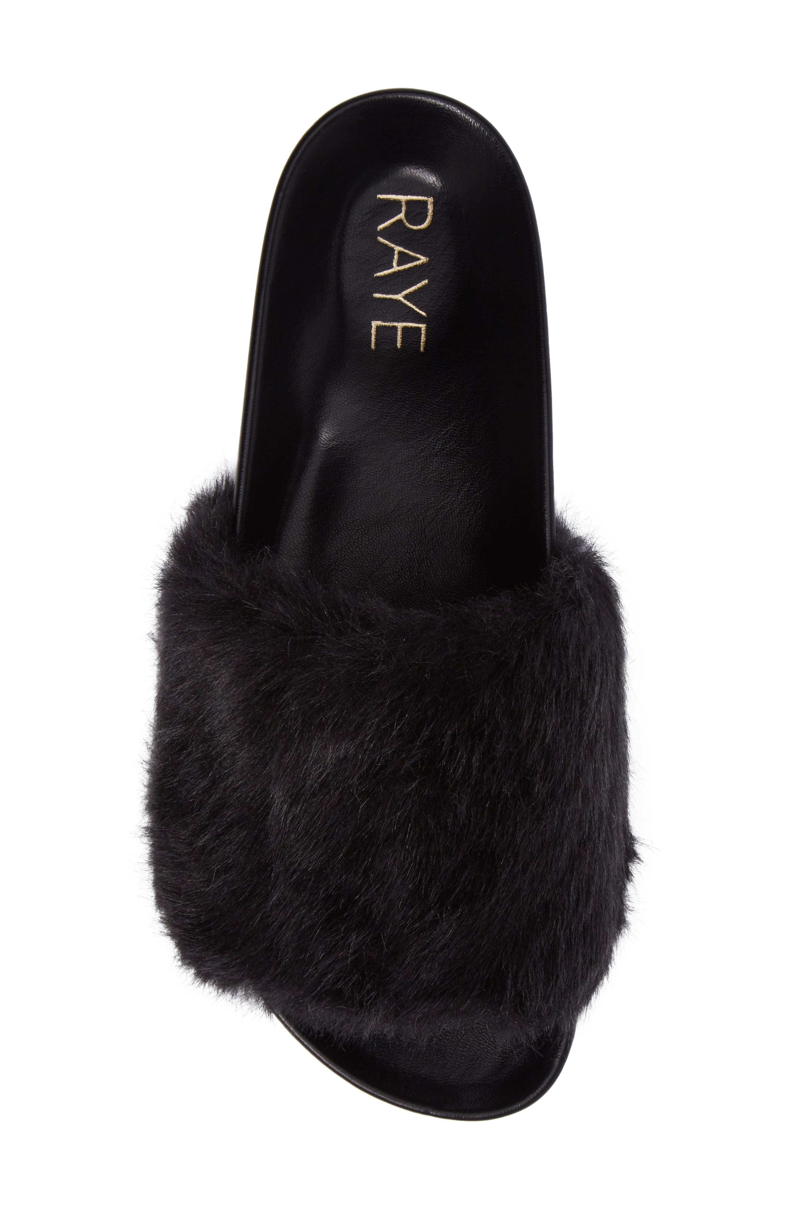 Sirius Faux Fur Slide,                             Alternate thumbnail 5, color,                             003