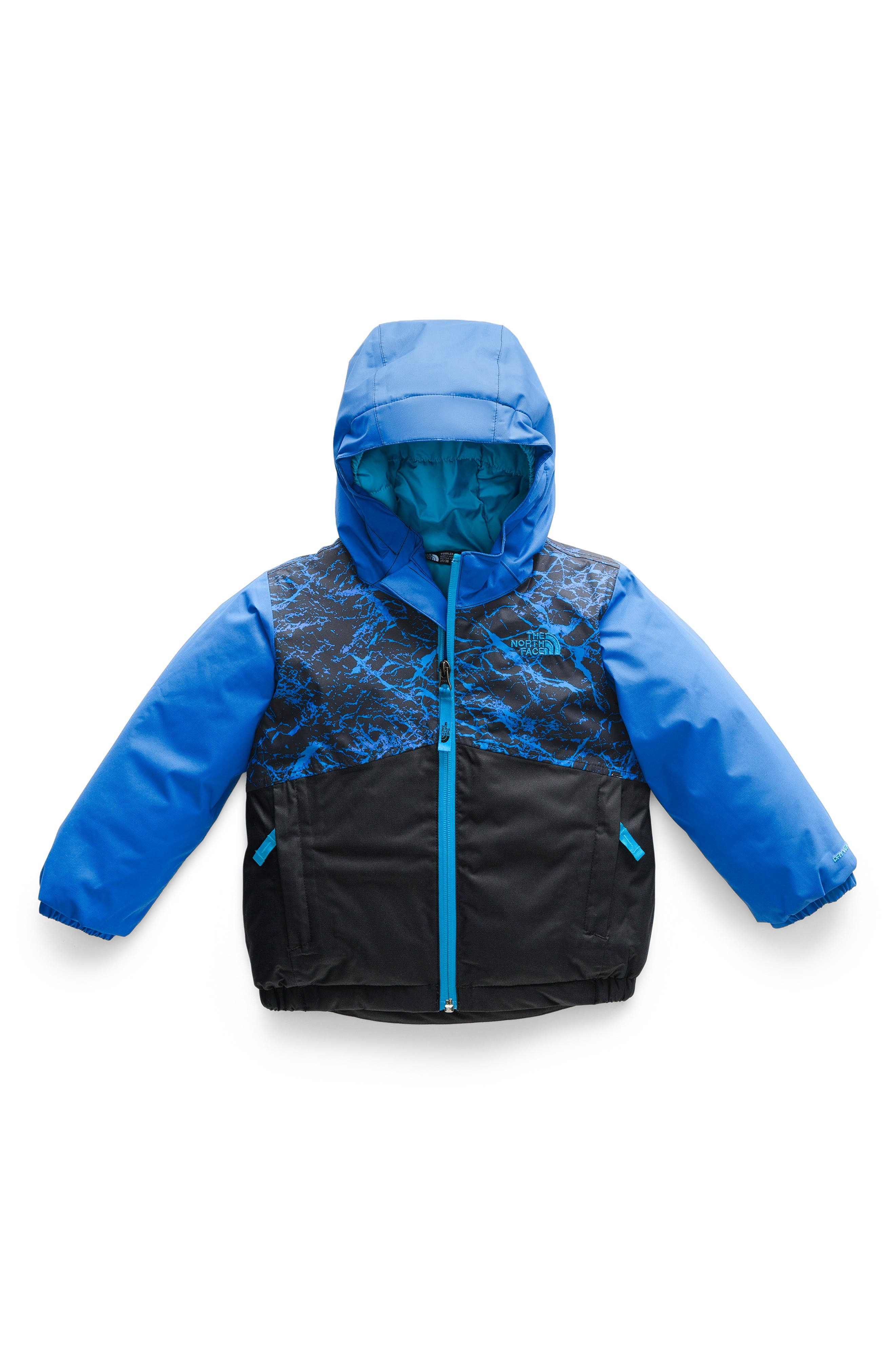 Boys The North Face Snowquest Waterproof Insulated Winter Jacket Size 6  Blue