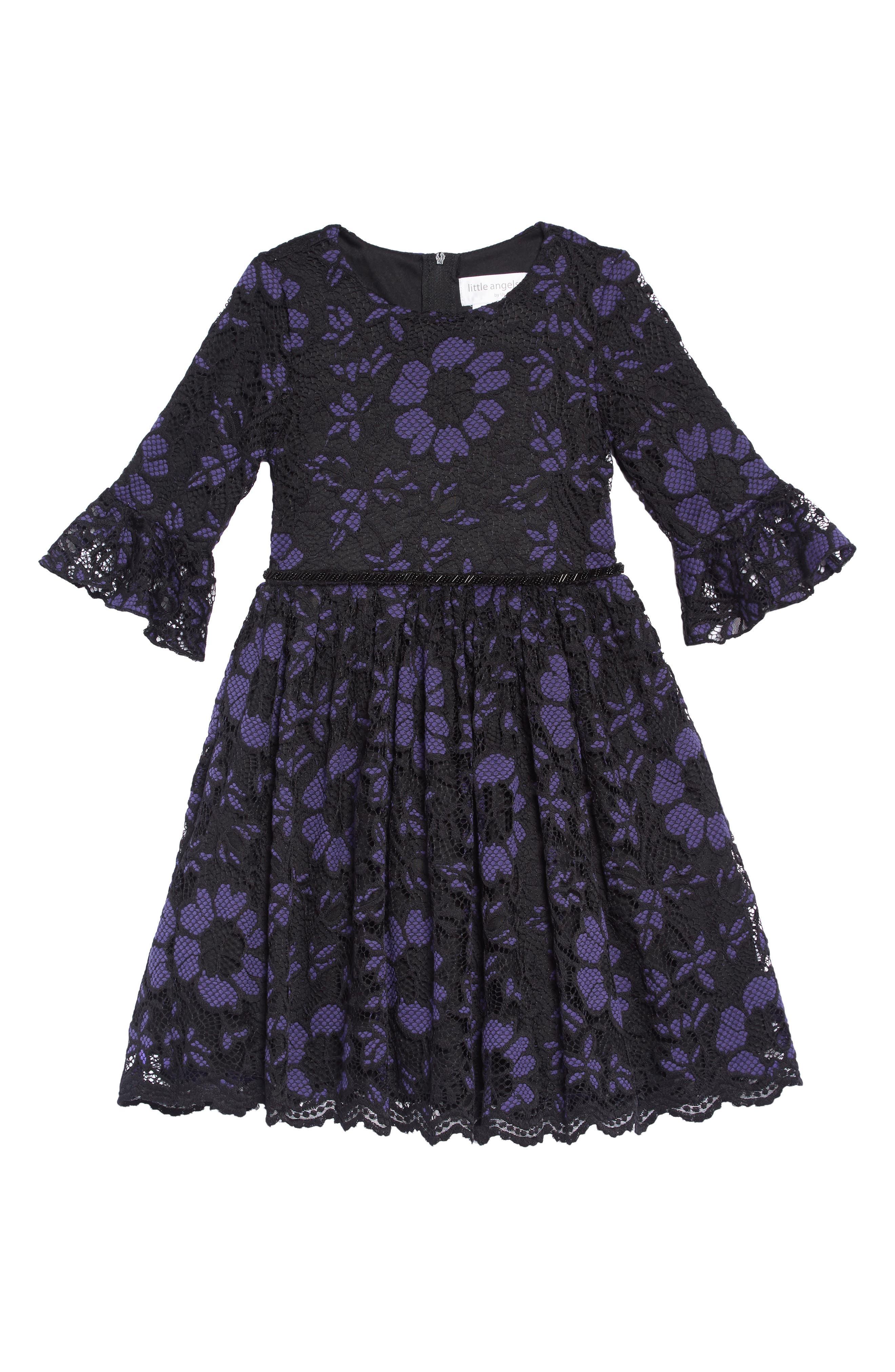 Lace Overlay Dress,                             Main thumbnail 1, color,                             ROYAL