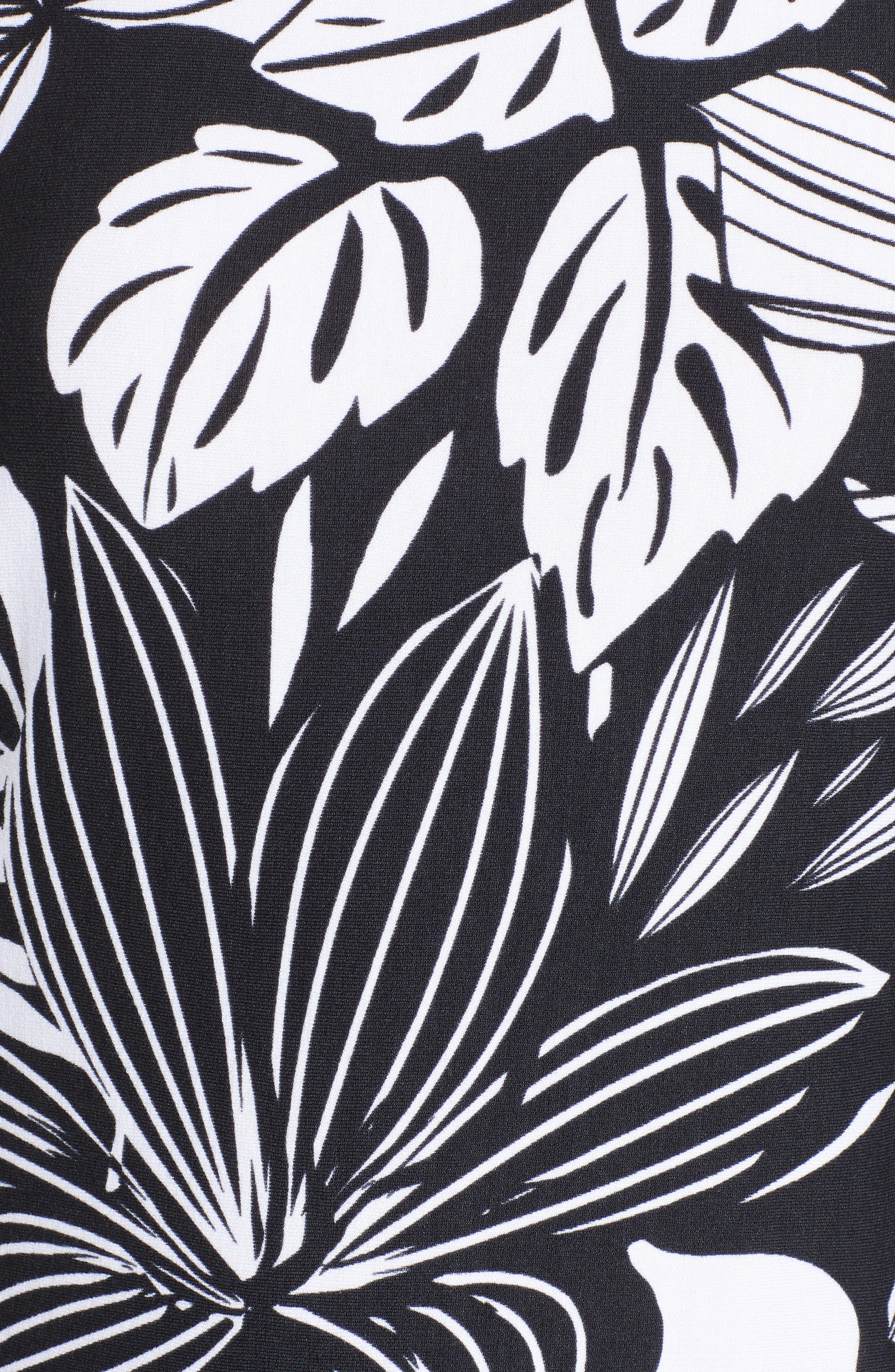 TOMMY BAHAMA,                             Mahana Beach Sheath Dress,                             Alternate thumbnail 6, color,                             BLACK