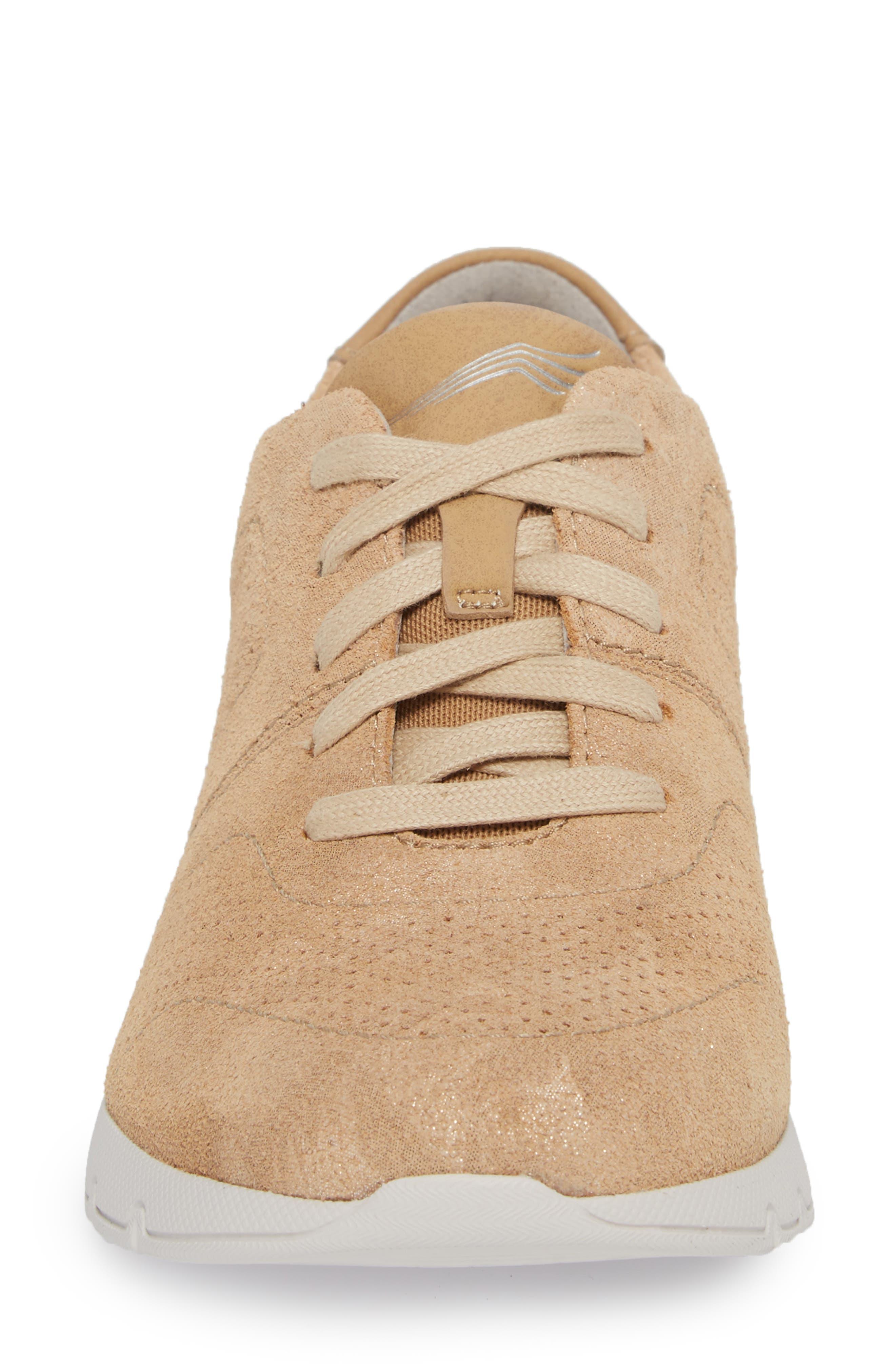 Alissa Sneaker,                             Alternate thumbnail 4, color,                             GOLD PRINT LEATHER