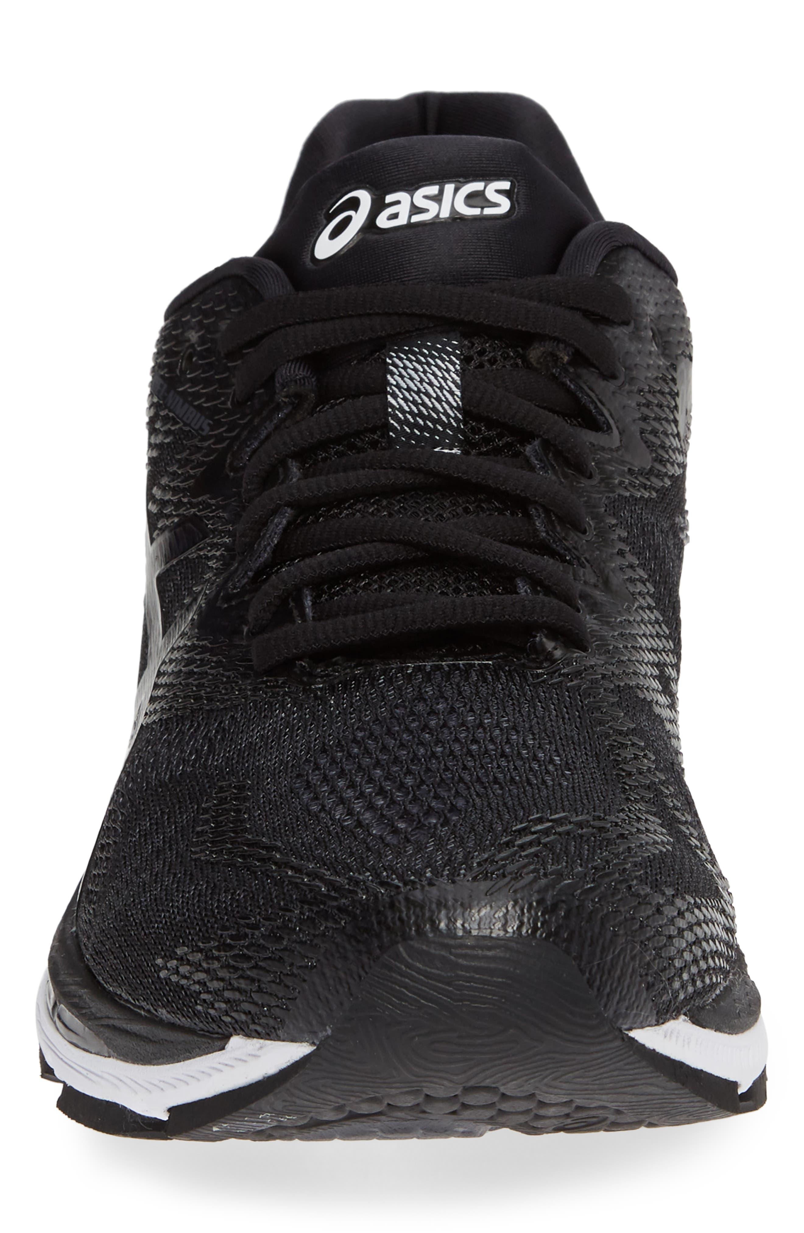 GEL<sup>®</sup>-Nimbus 20 Running Shoe,                             Alternate thumbnail 4, color,                             BLACK/ WHITE/ CARBON