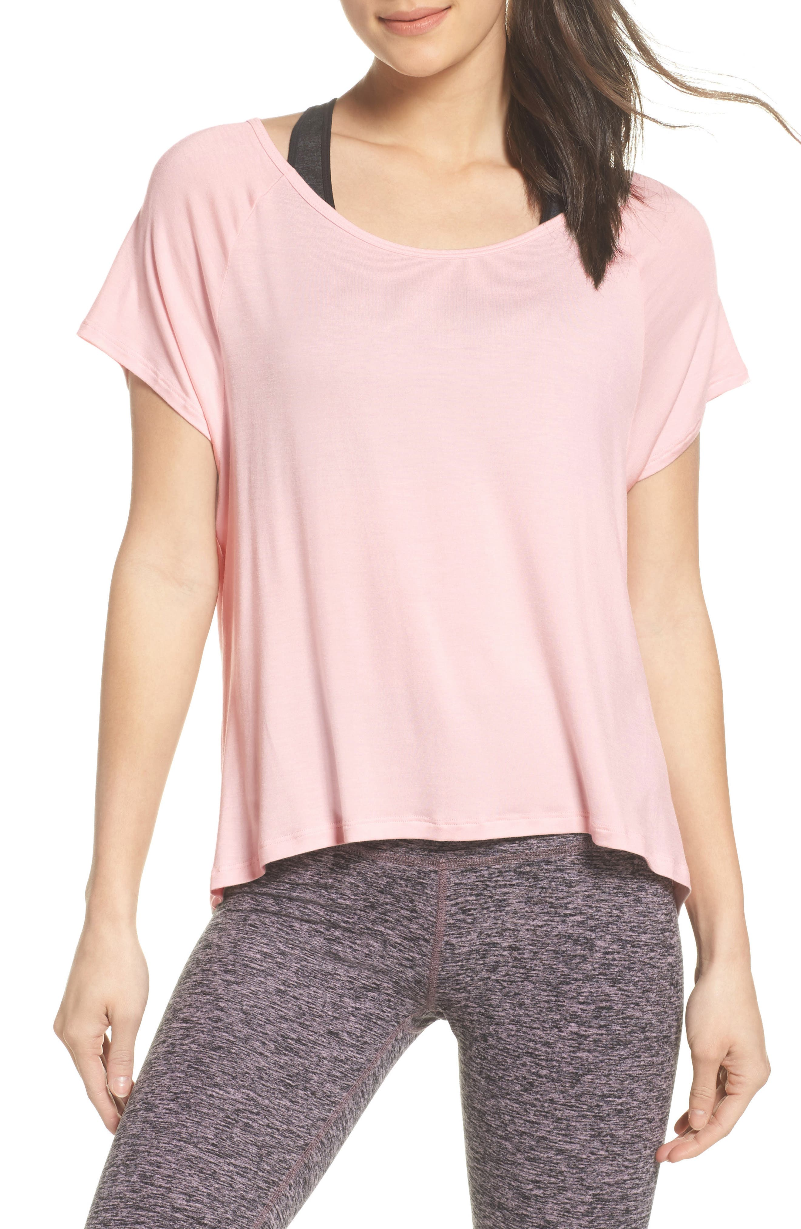 Slink Out Loud High/Low Tee,                             Main thumbnail 4, color,