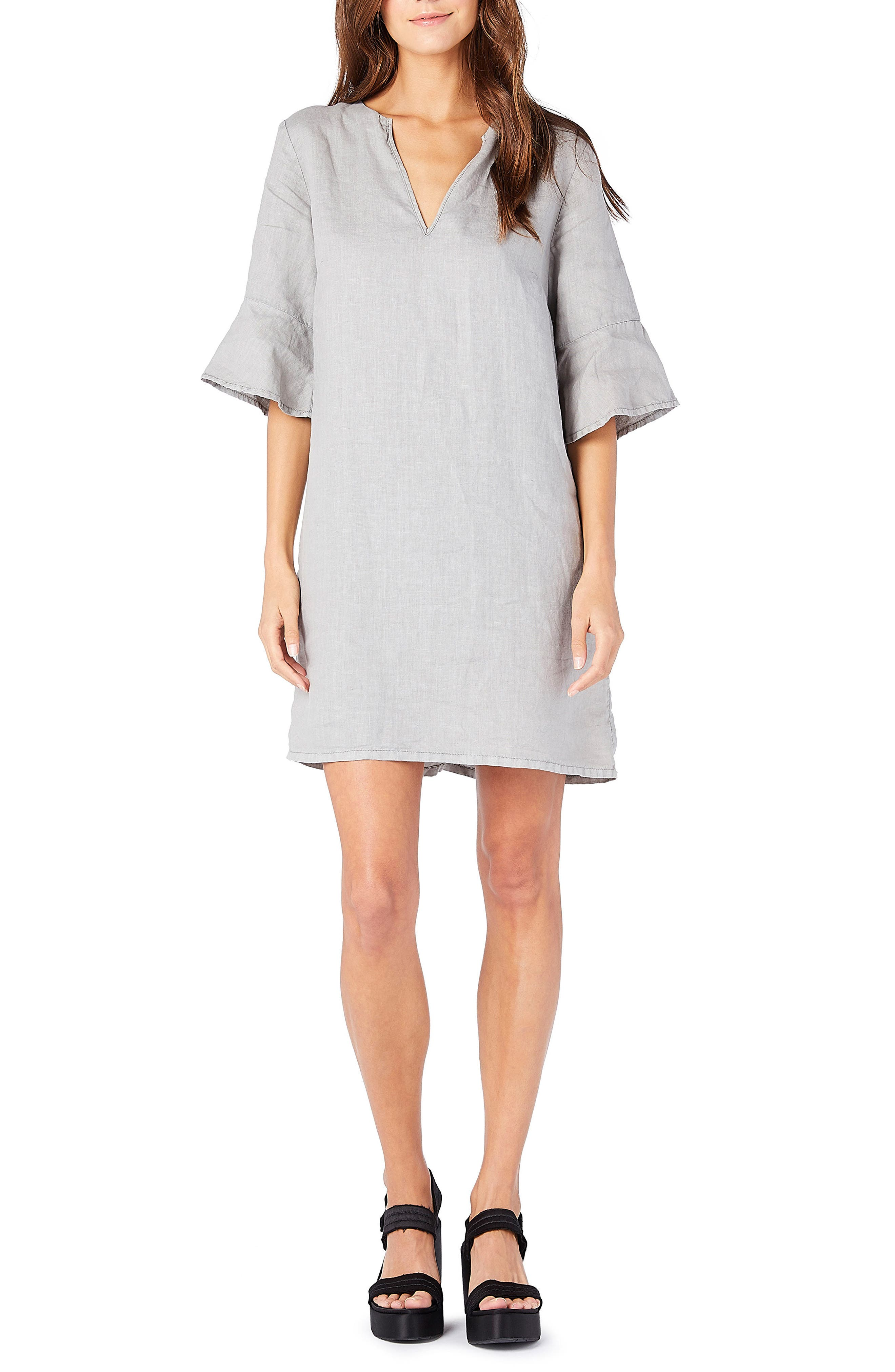 Trumpet Sleeve Shift Dress,                         Main,                         color,